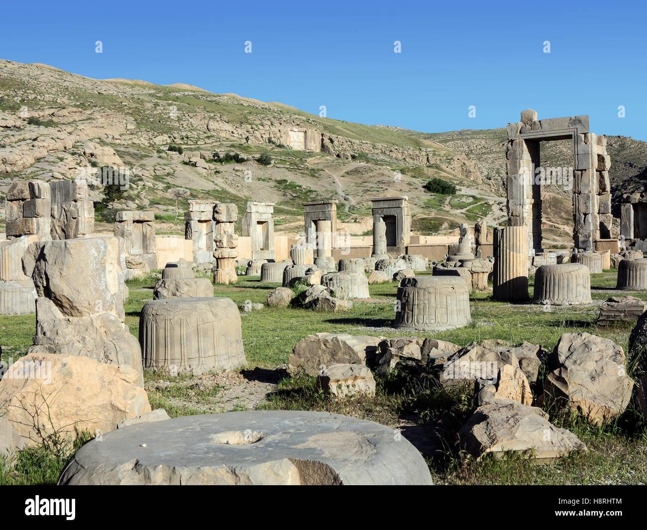 Ruins of Persepolis Iran - Stock Image