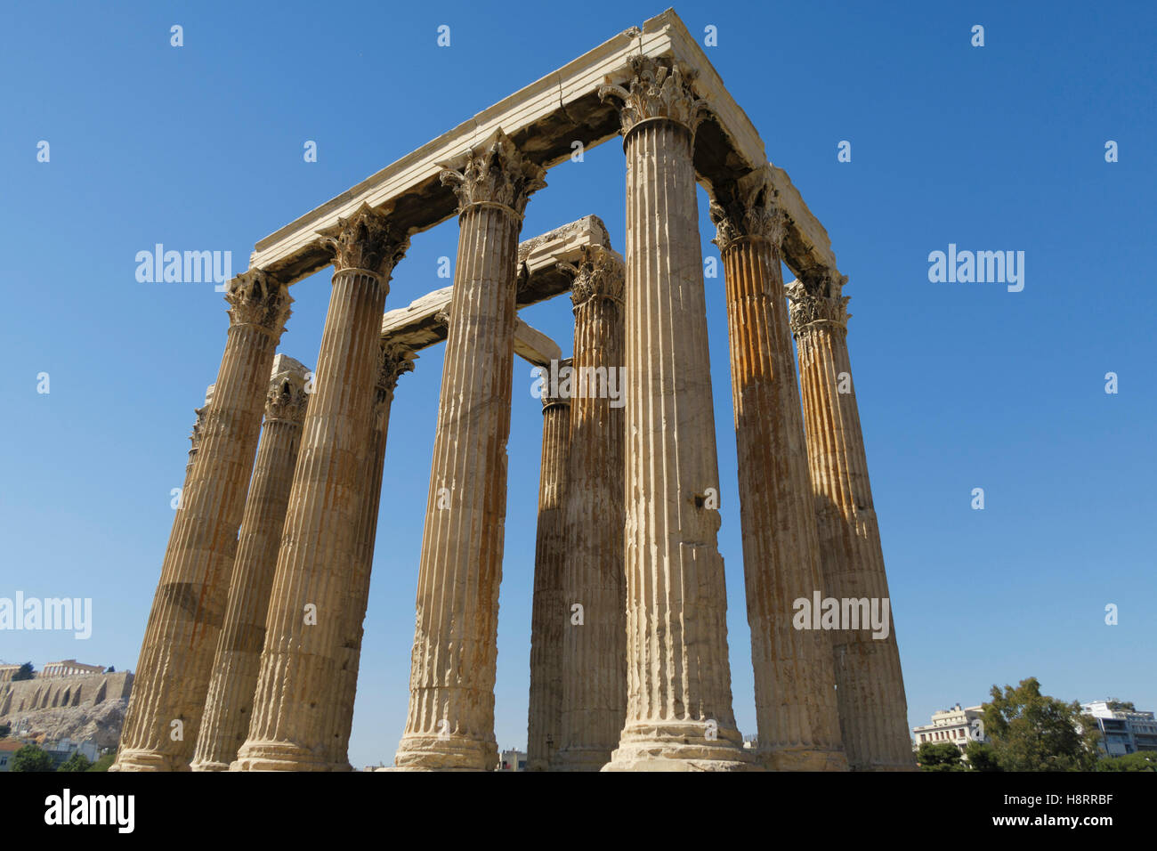 Temple of Olympian Zeus, Athens, Greece - Stock Image