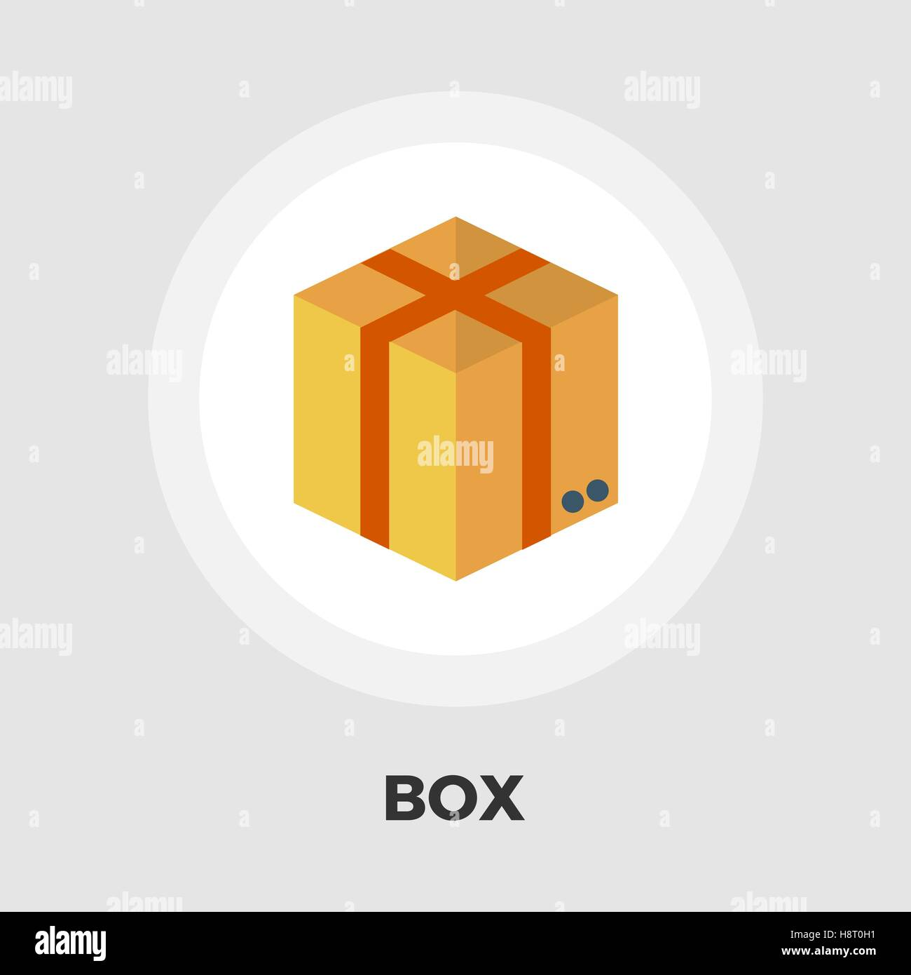 Cartoon Box icon vector. Flat icon isolated on the white background. Editable EPS file. Vector illustration. - Stock Image