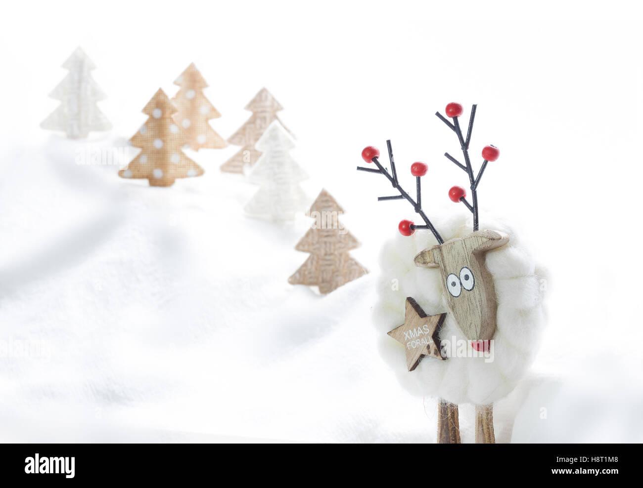 Funny Christmas Card Christmas Ornaments Reindeer Selfie Space