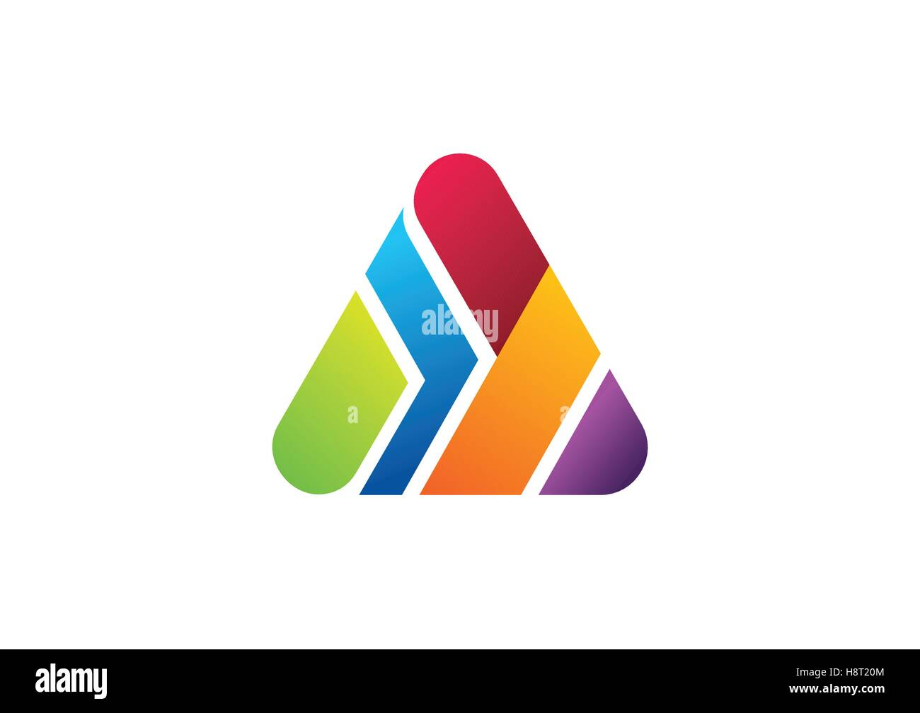Triangle Element Logo Construction Pyramid Finance Building Symbol Stock Vector Image Art Alamy