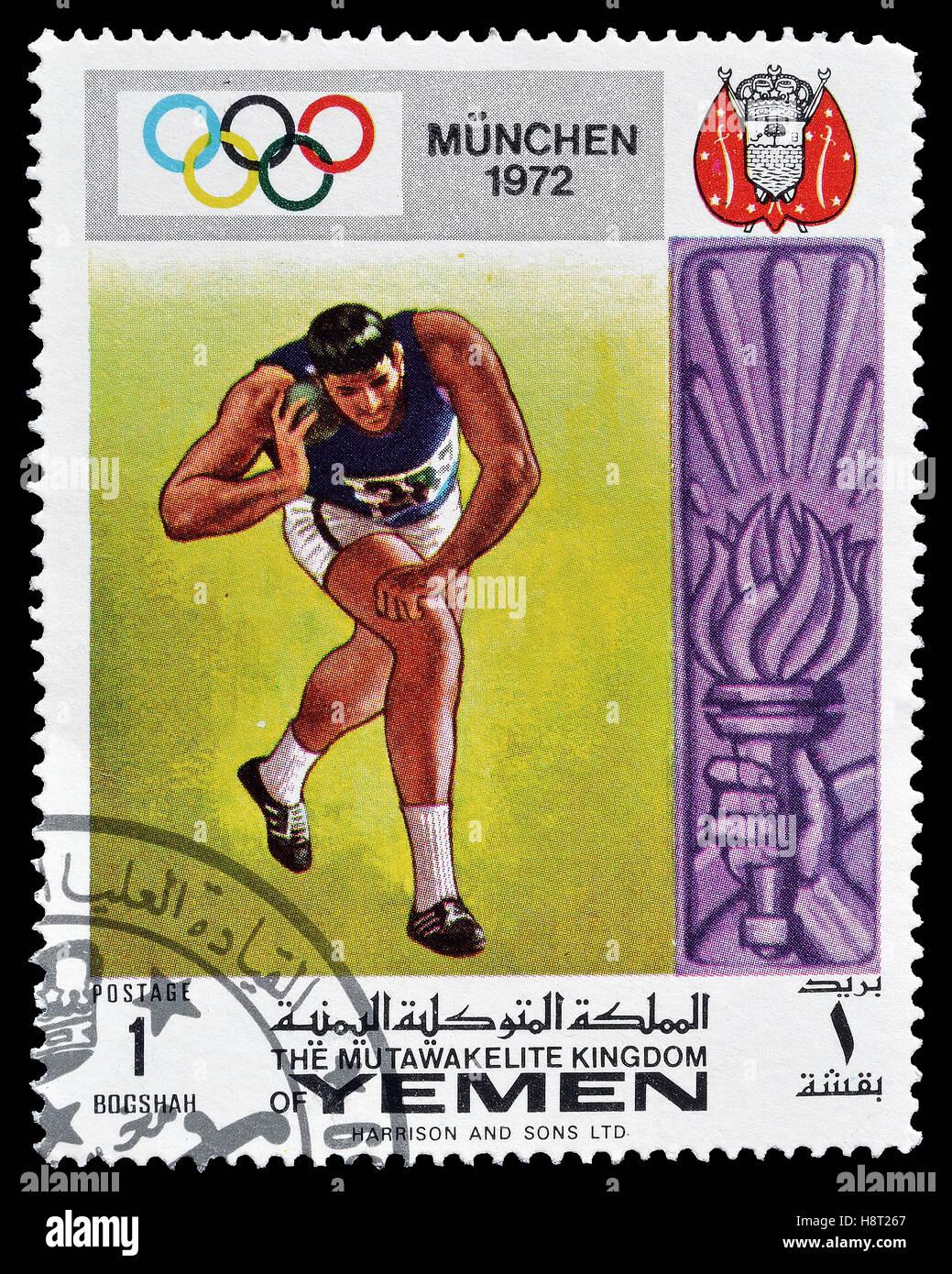 Yemen stamp 1972 - Stock Image