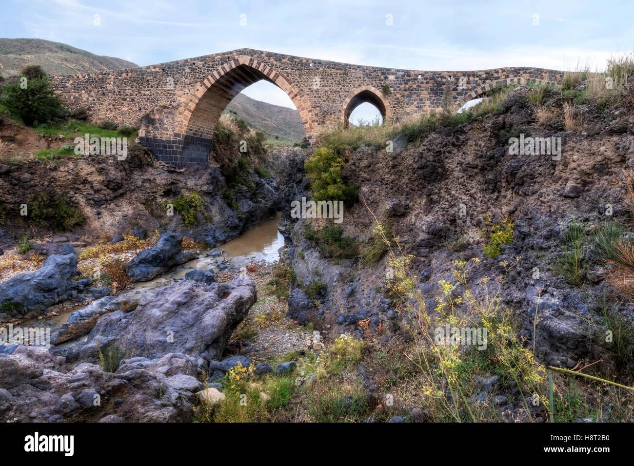 Ponte dei Saraceni, Adrano, Sicily, Italy - Stock Image