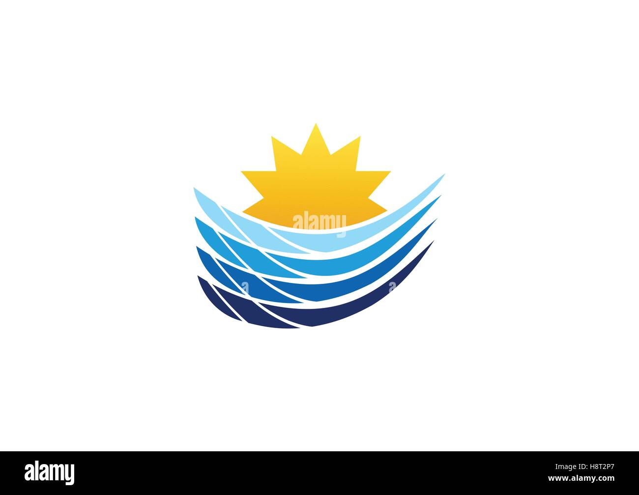 Tide Waves Abstract Beach Stock Vector Images Alamy