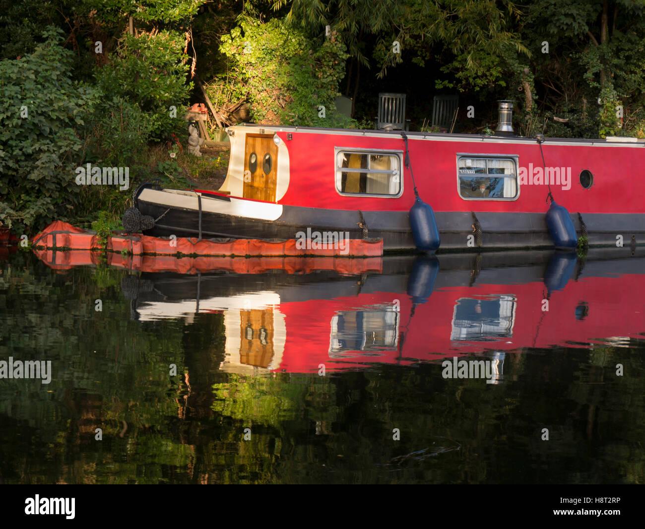 Europe, UK, England, London, Clapton, River Lea - Stock Image