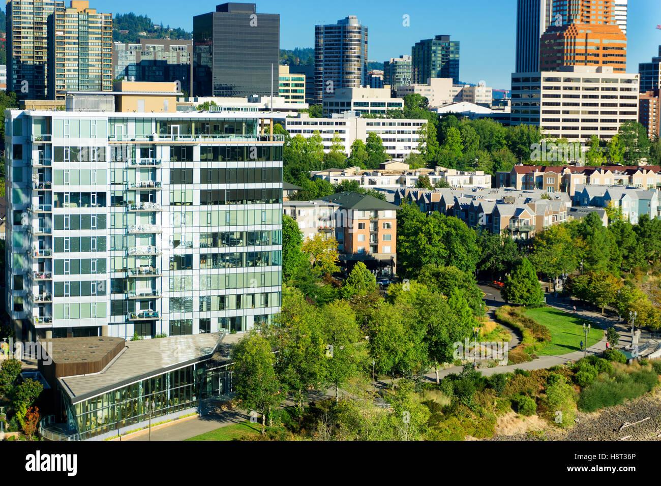 Beautiful view of Portland, Oregon - Stock Image