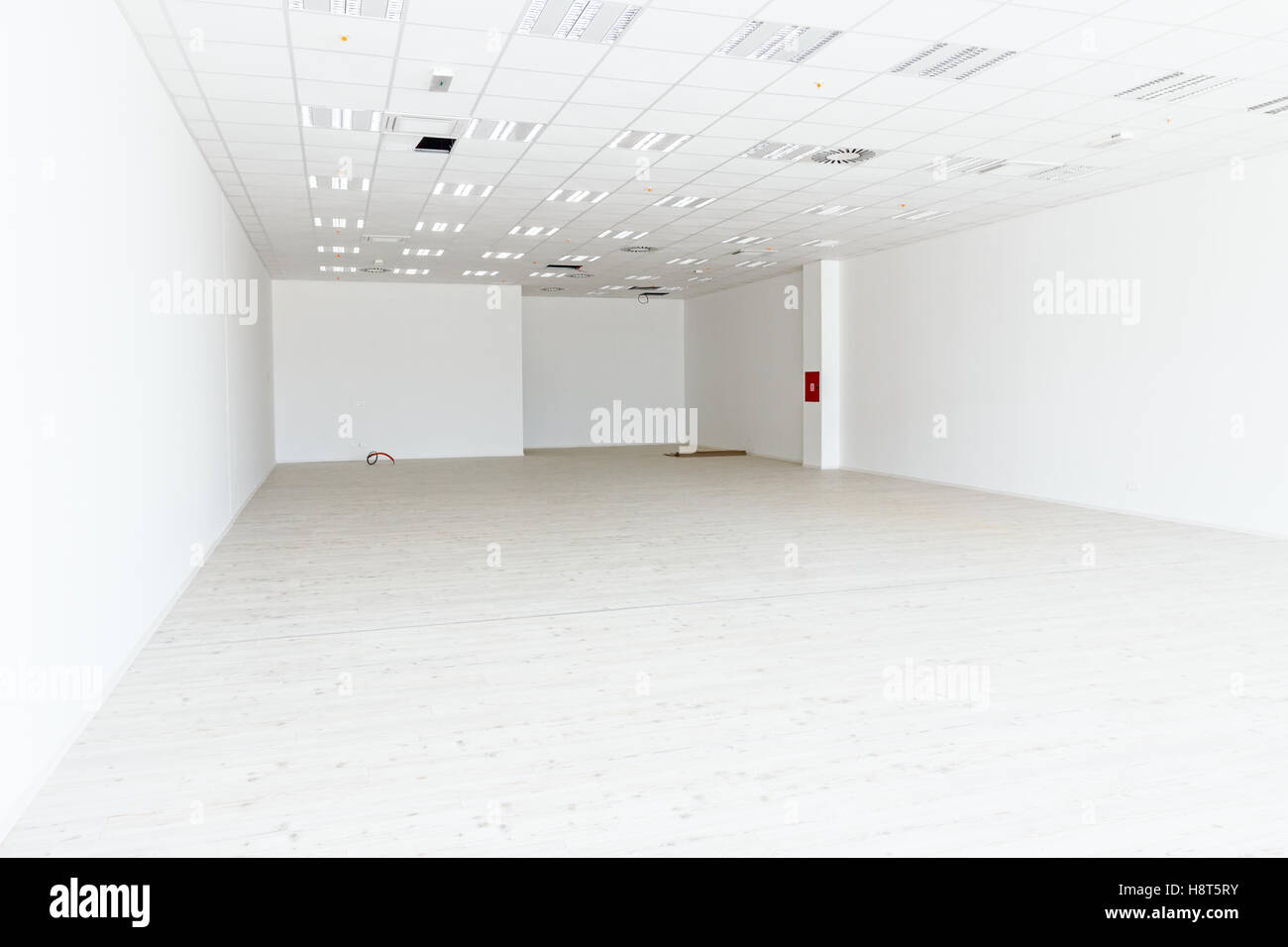 Superb View On Large White And Empty Showroom With Hardwood Floor Download Free Architecture Designs Scobabritishbridgeorg