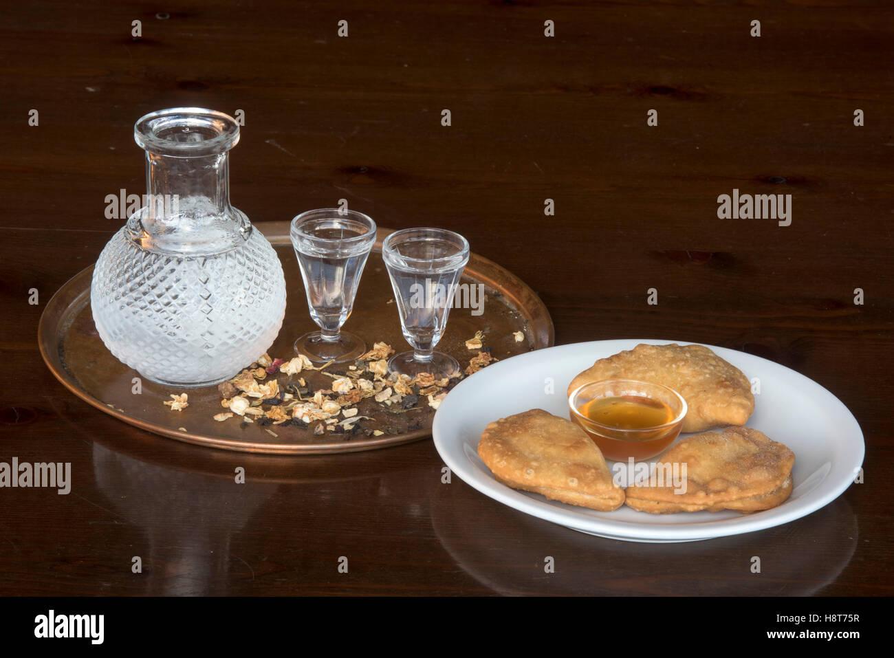 Griechenland, Kreta, griechische Küche - Stock Image