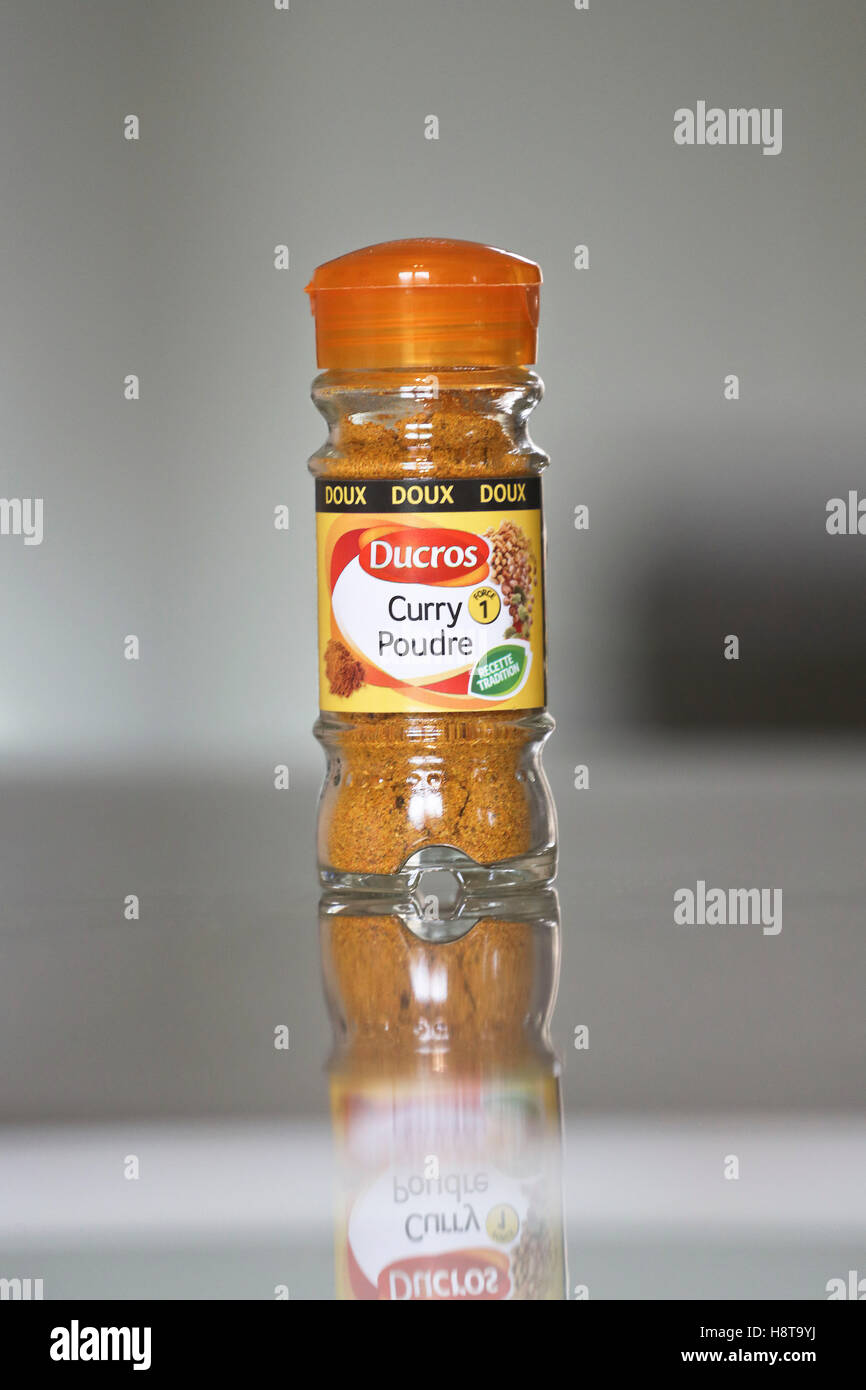 Bottle of Ducros curry Stock Photo