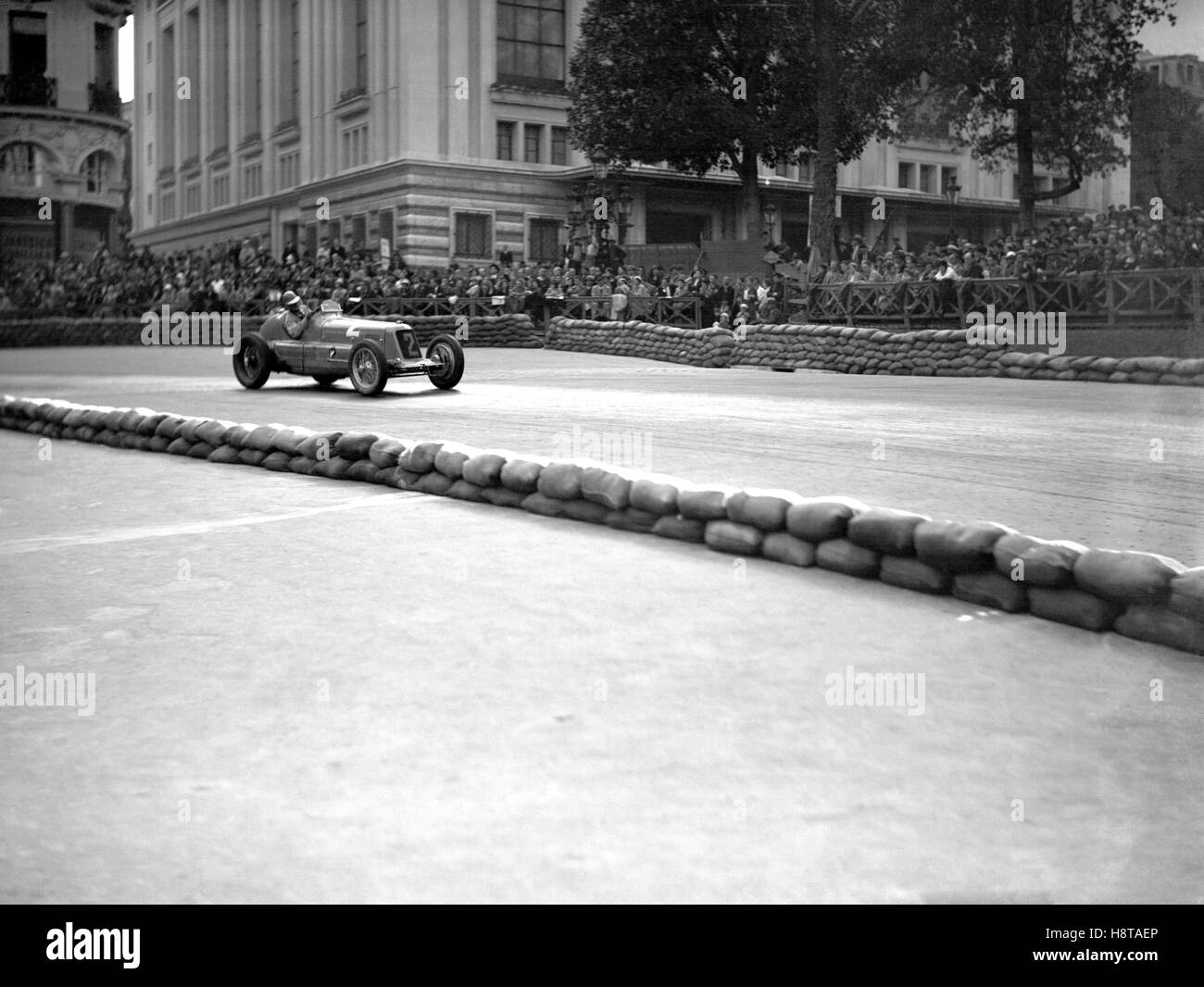 1934 MONACO GP HOWE MASERATI 8CM - Stock Image