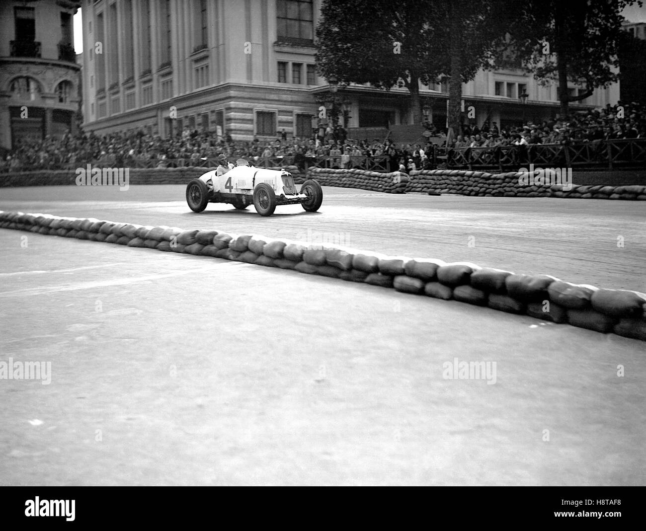 1934 MONACO GP MASERATI 8CM - Stock Image