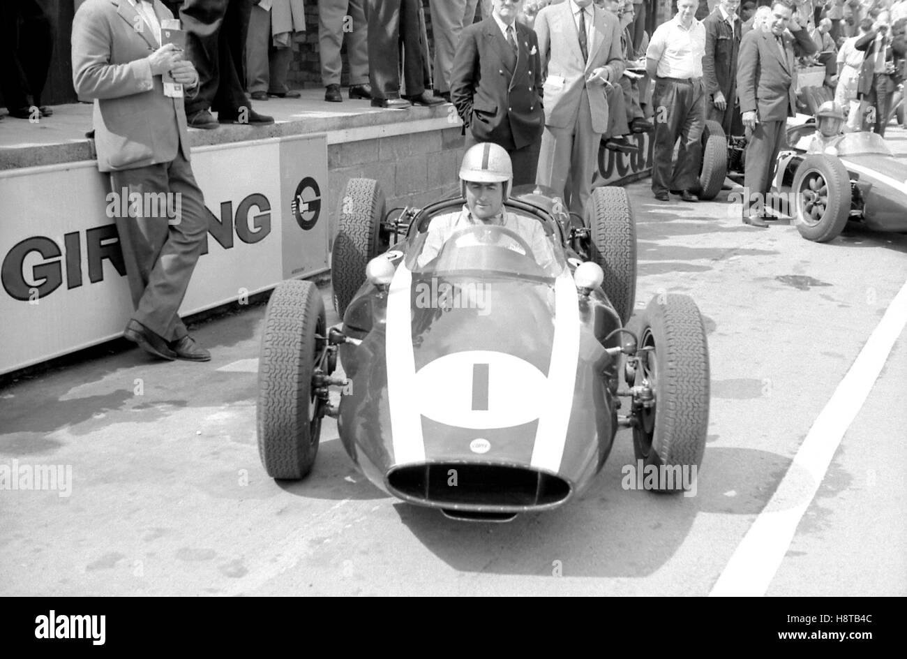1960 BRITISH GP BRABHAM WORKS COOPER LOWLINE - Stock Image