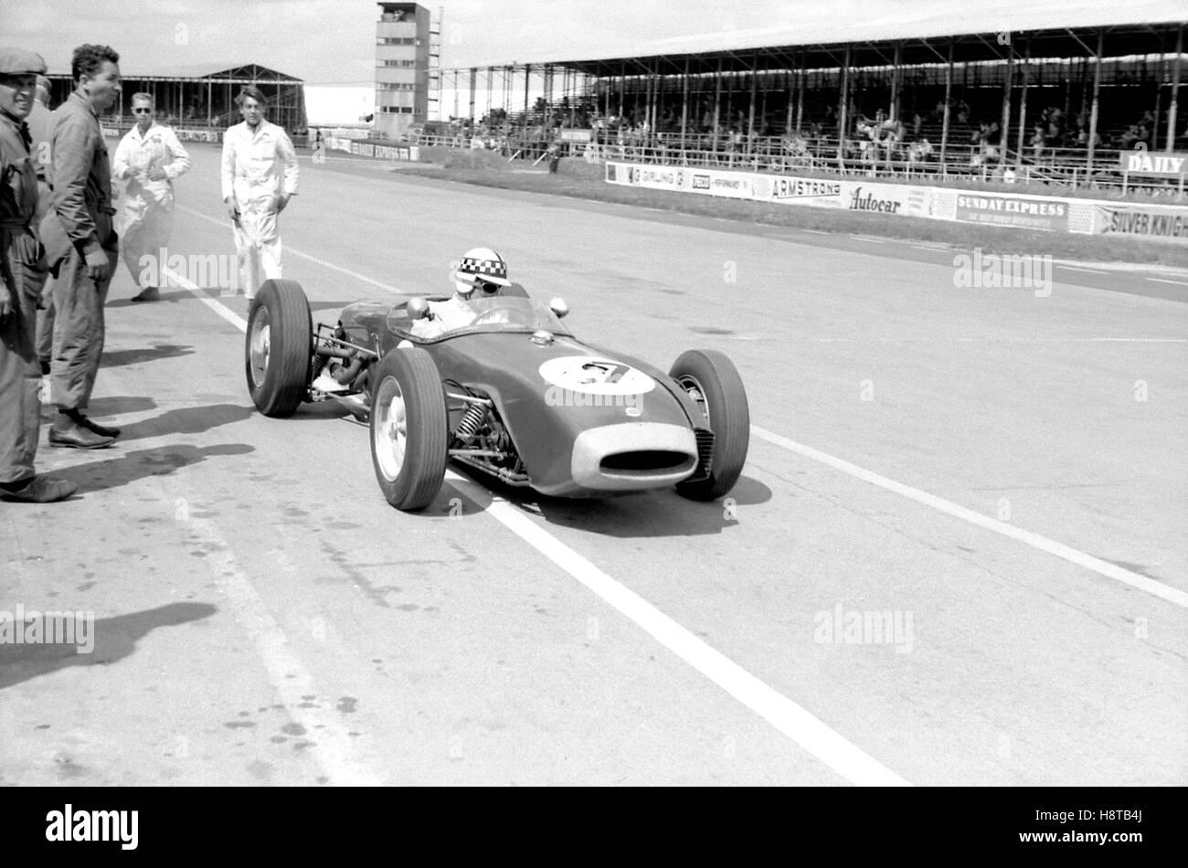 1960 BRITISH GP IRELAND LOTUS 18 JIM ENDRUWEIT BACKGROUND - Stock Image