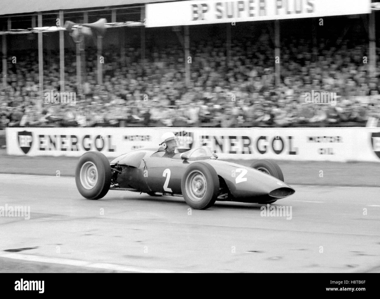 1961 GOODWOOD ICF TONY BROOKS BRM P48 - Stock Image
