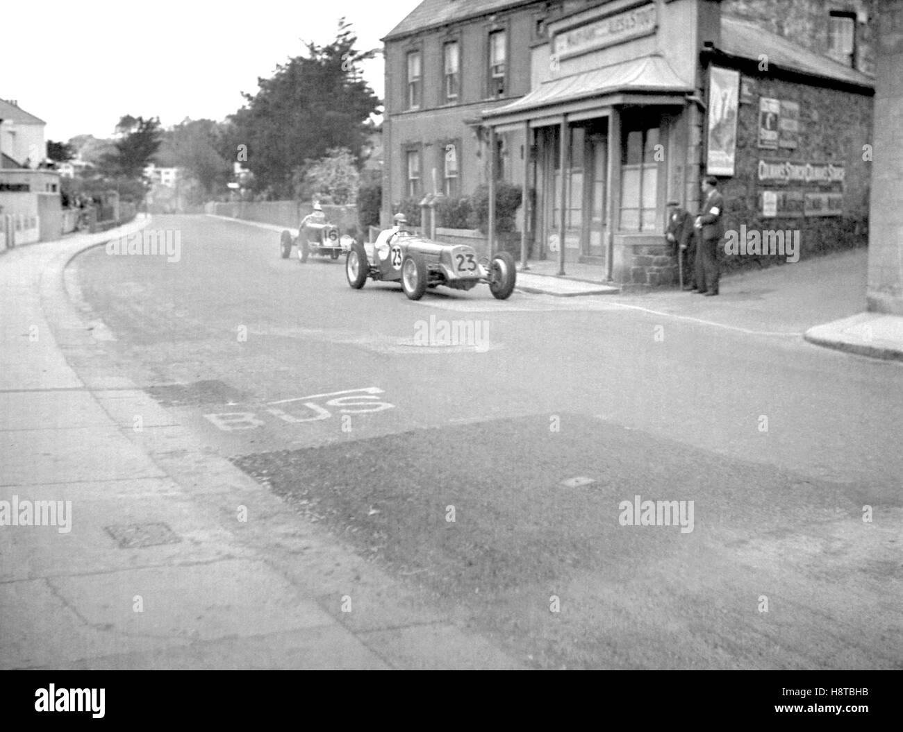 JERSEY ROAD RACE DELAGE ERA - Stock Image