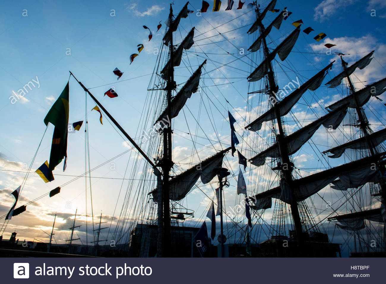 Tall Ships event at Belfast, Northern Ireland, 2015 - Stock Image
