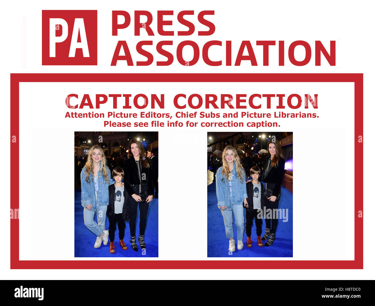 CAPTION CORRECTION CHANGING ***Sarah Gallagher and children Anai and Donovan to Sarah Gallagher and children Anais - Stock Image