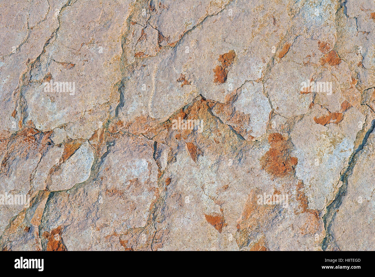"""Natural """"scaglia rossa"""" red limestone, Italy Stock Photo"""