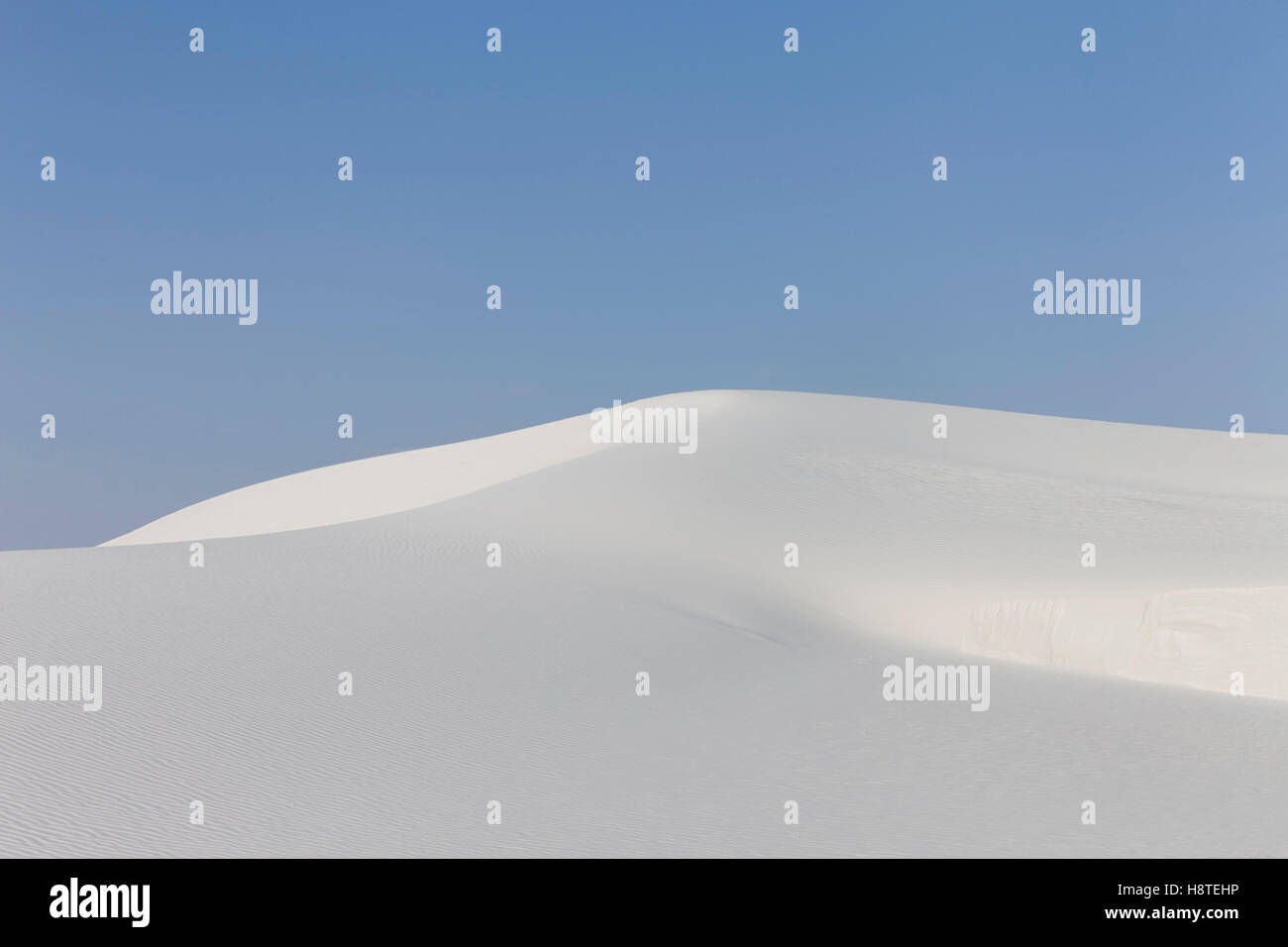 White Sands, New Mexico, USA.  National park. - Stock Image