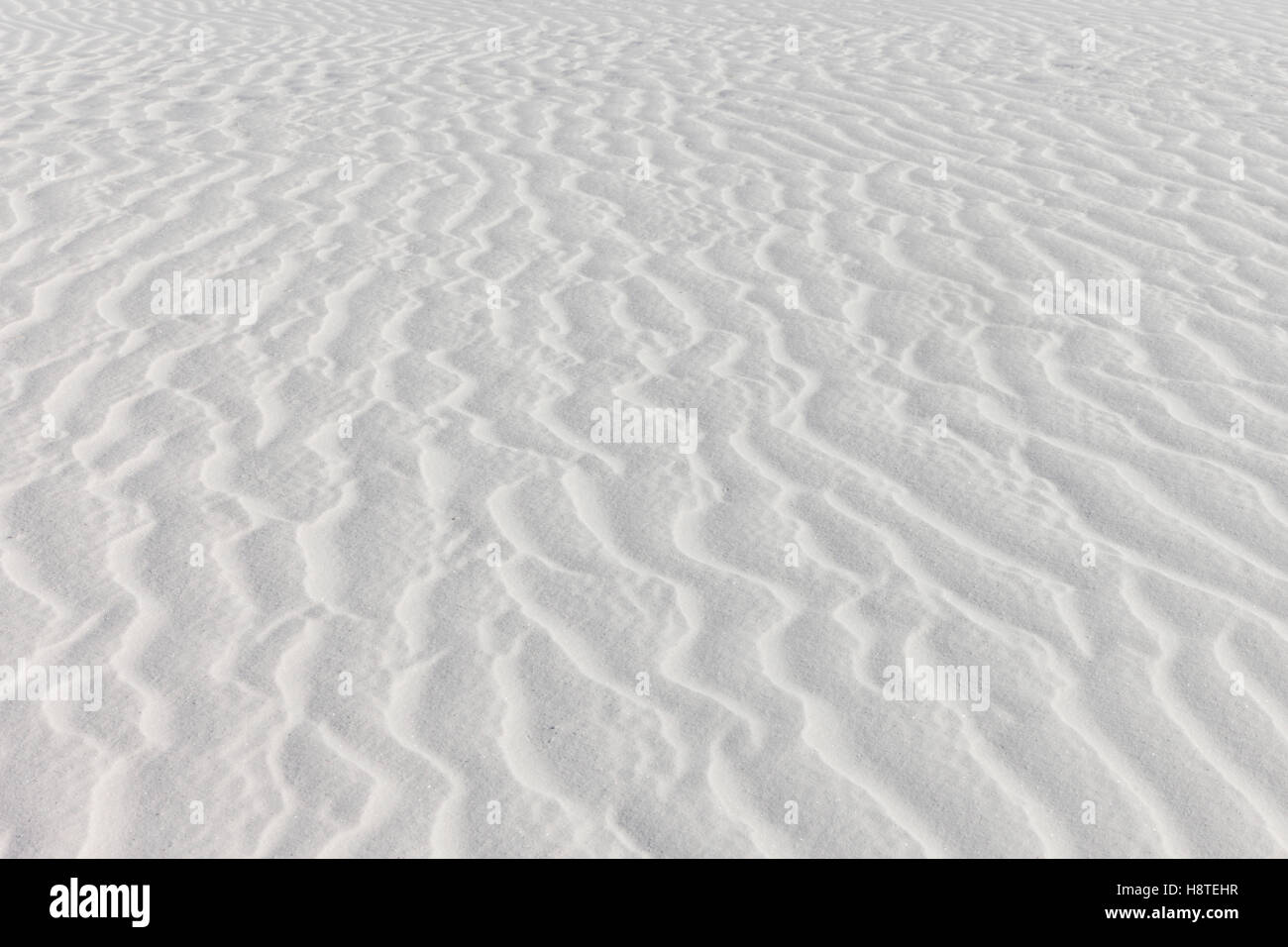 White Sands, New Mexico, USA. Patterns in the sand dunes - Stock Image
