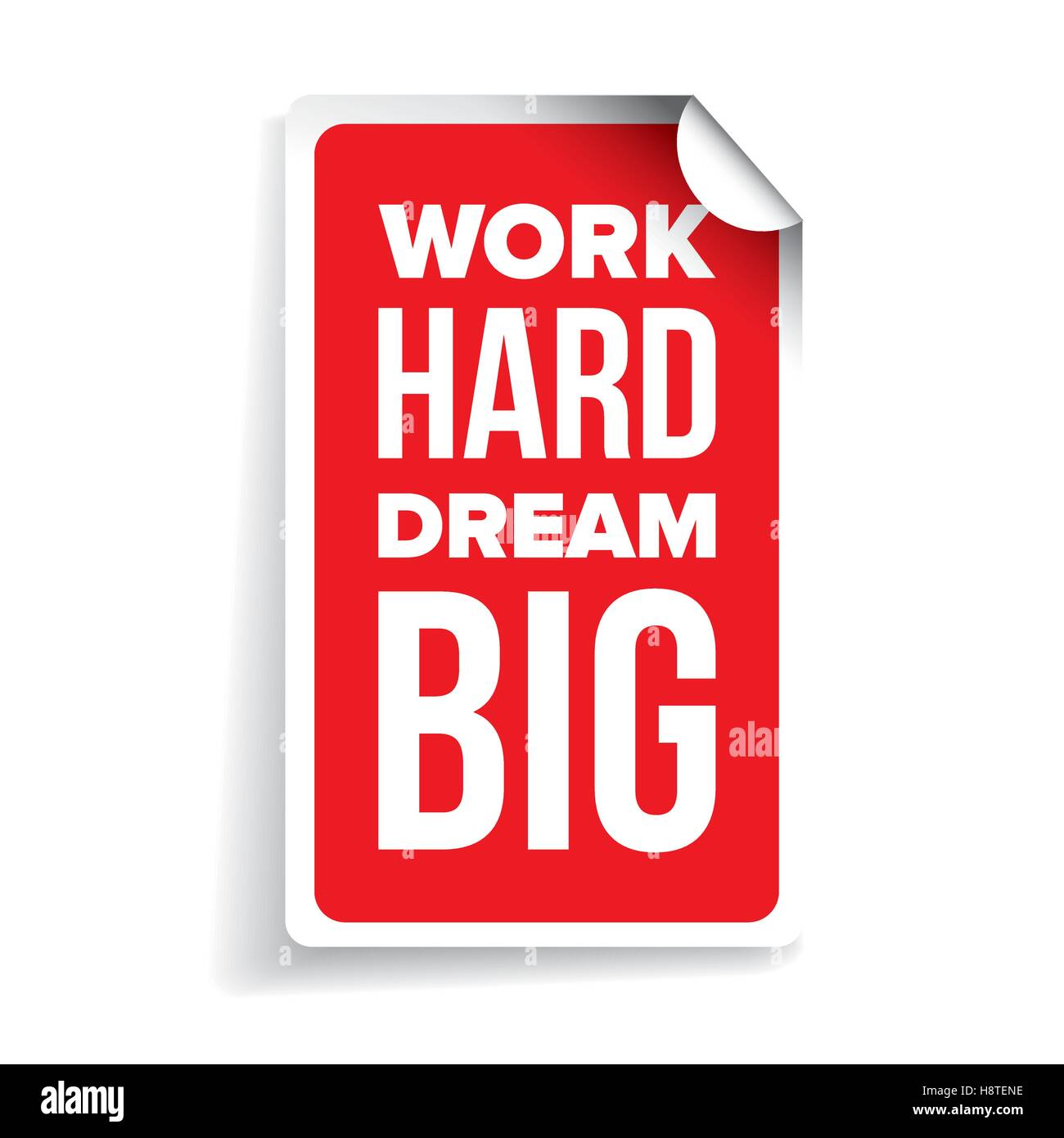 Work Hard Dream Big Inspirational Motivational Quote Stock Vector