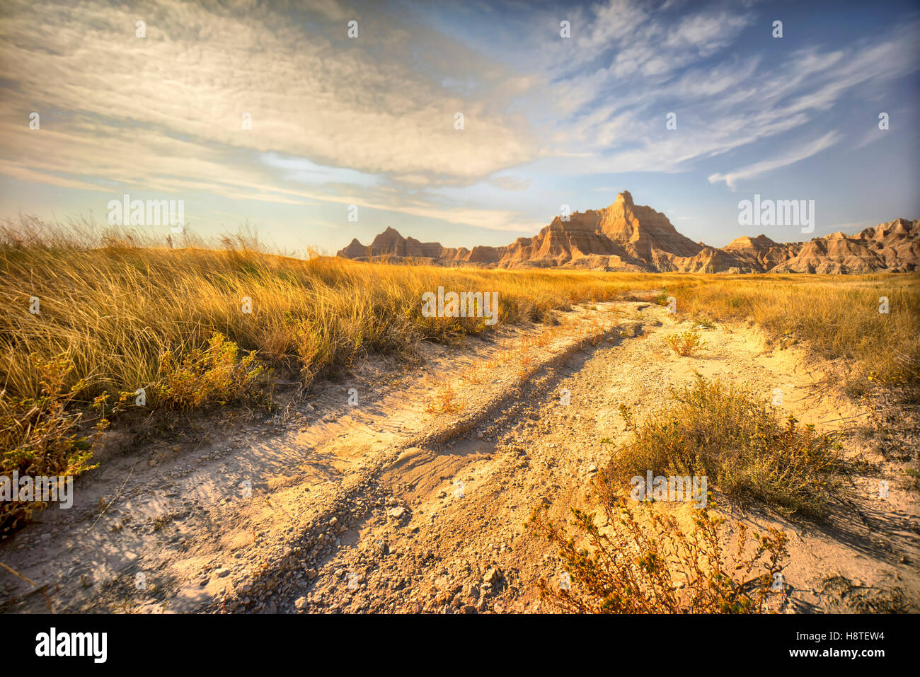 Badlands National Park, South Dakota, USA, Desert landscape, Stock Photo