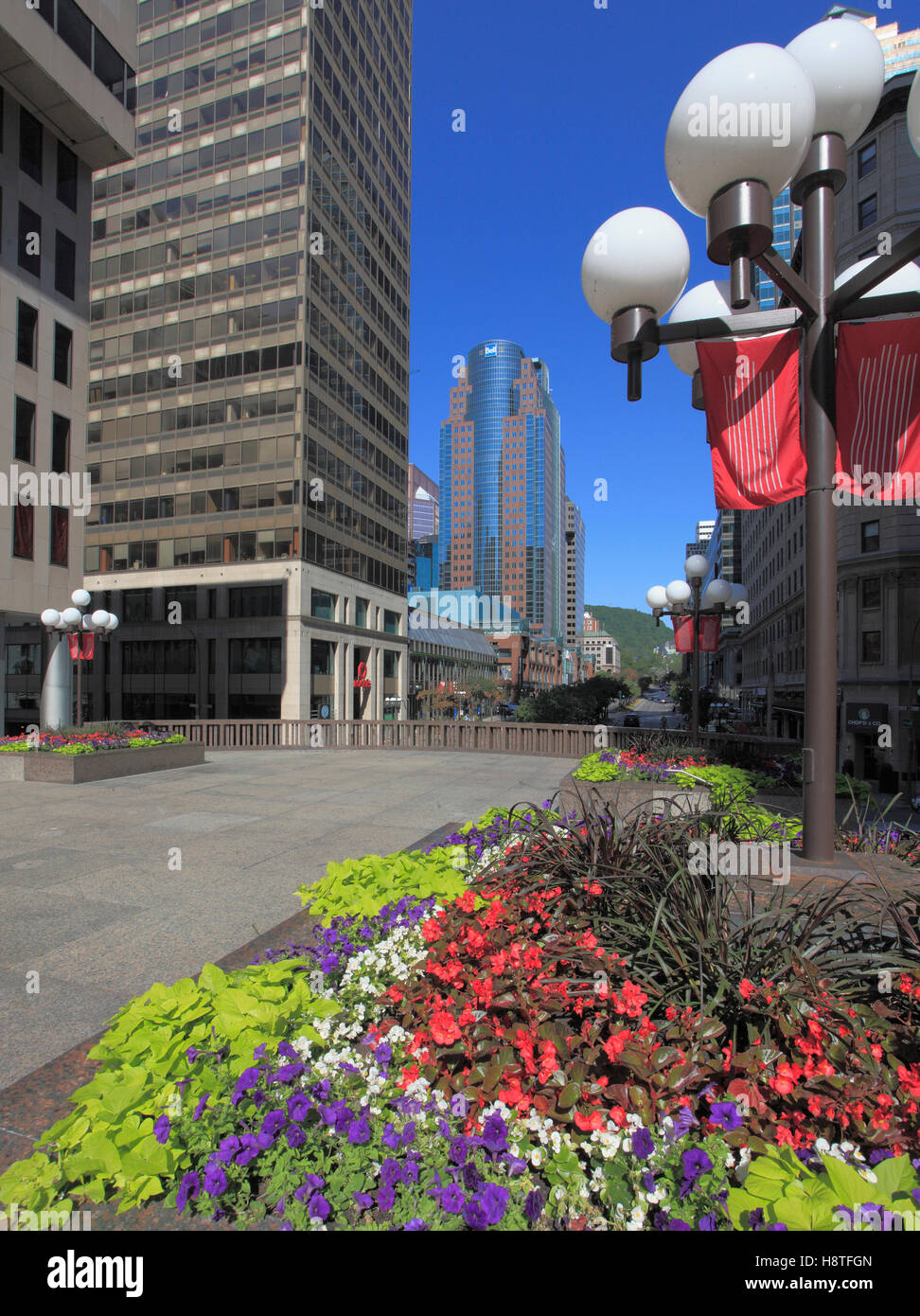 Canada, Quebec, Montreal, Place Ville Marie, McGill College Avenue, Stock Photo