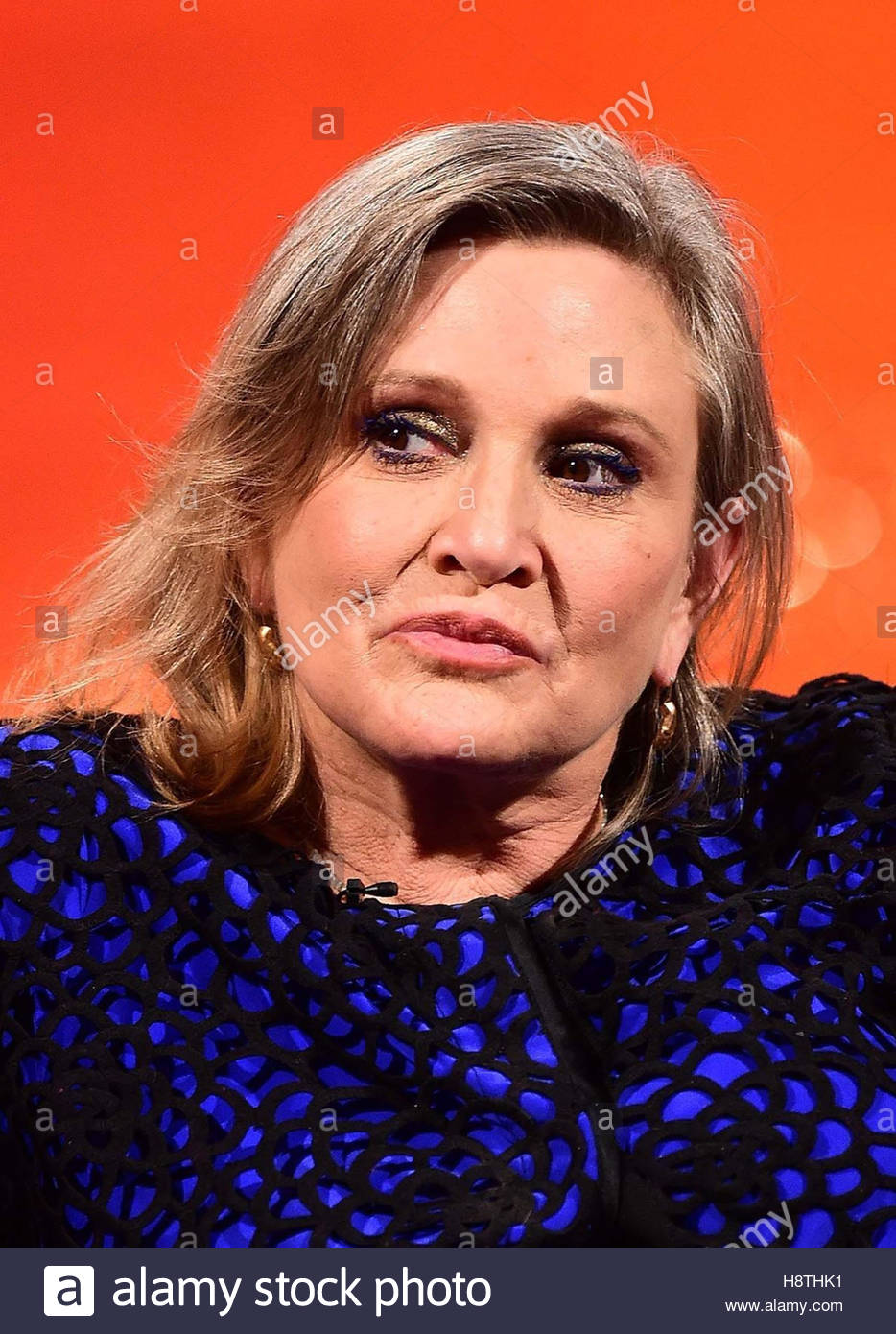 """File photo dated 17/12/2015 of Carrie Fisher, who has claimed she had an """"intense"""" affair with - Stock Image"""