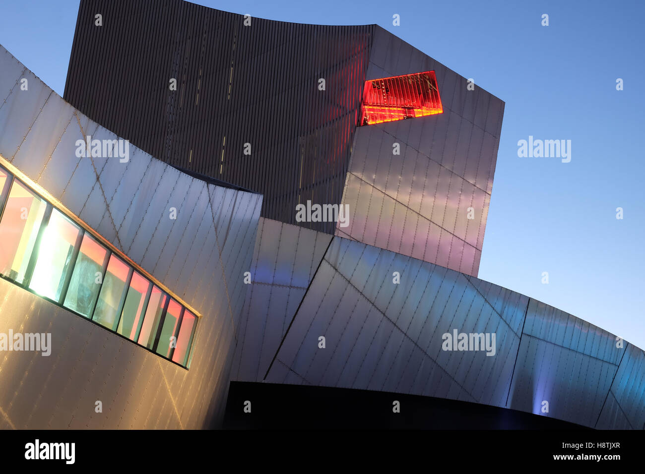 Imperial War Museum North in Manchester, UK - Stock Image