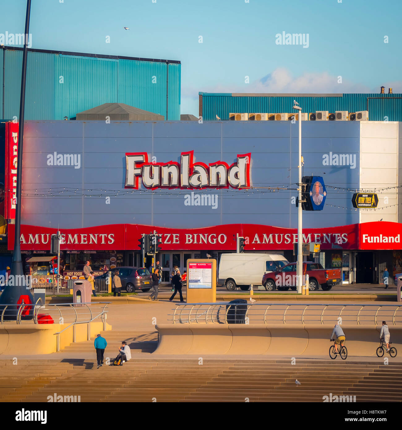 Funland bingo and amusements, Promenade, Blackpool, Lancashire, UK. - Stock Image