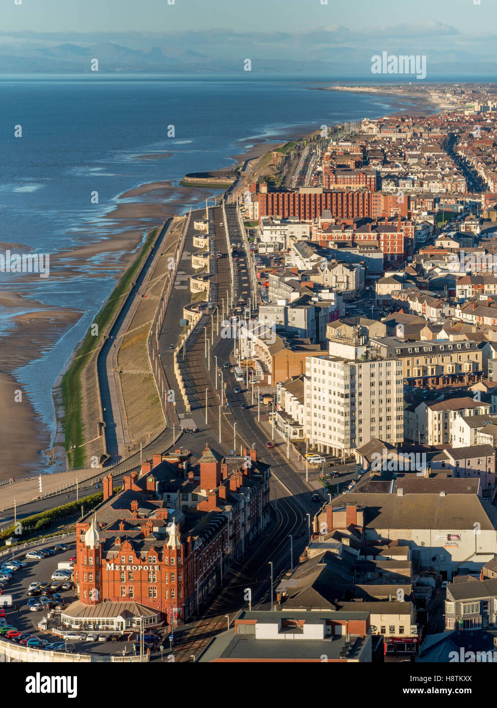 Metropole Hotel, North seafront, Blackpool, Lancashire, UK. - Stock Image