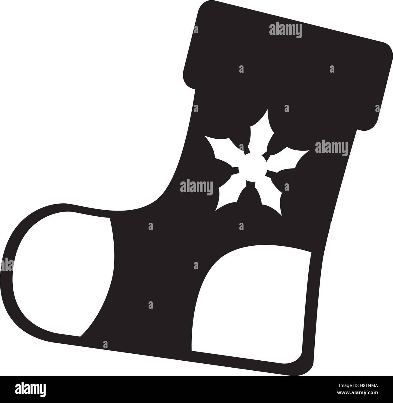 96b4945cb christmas socks decorative icon vector illustration design Stock ...