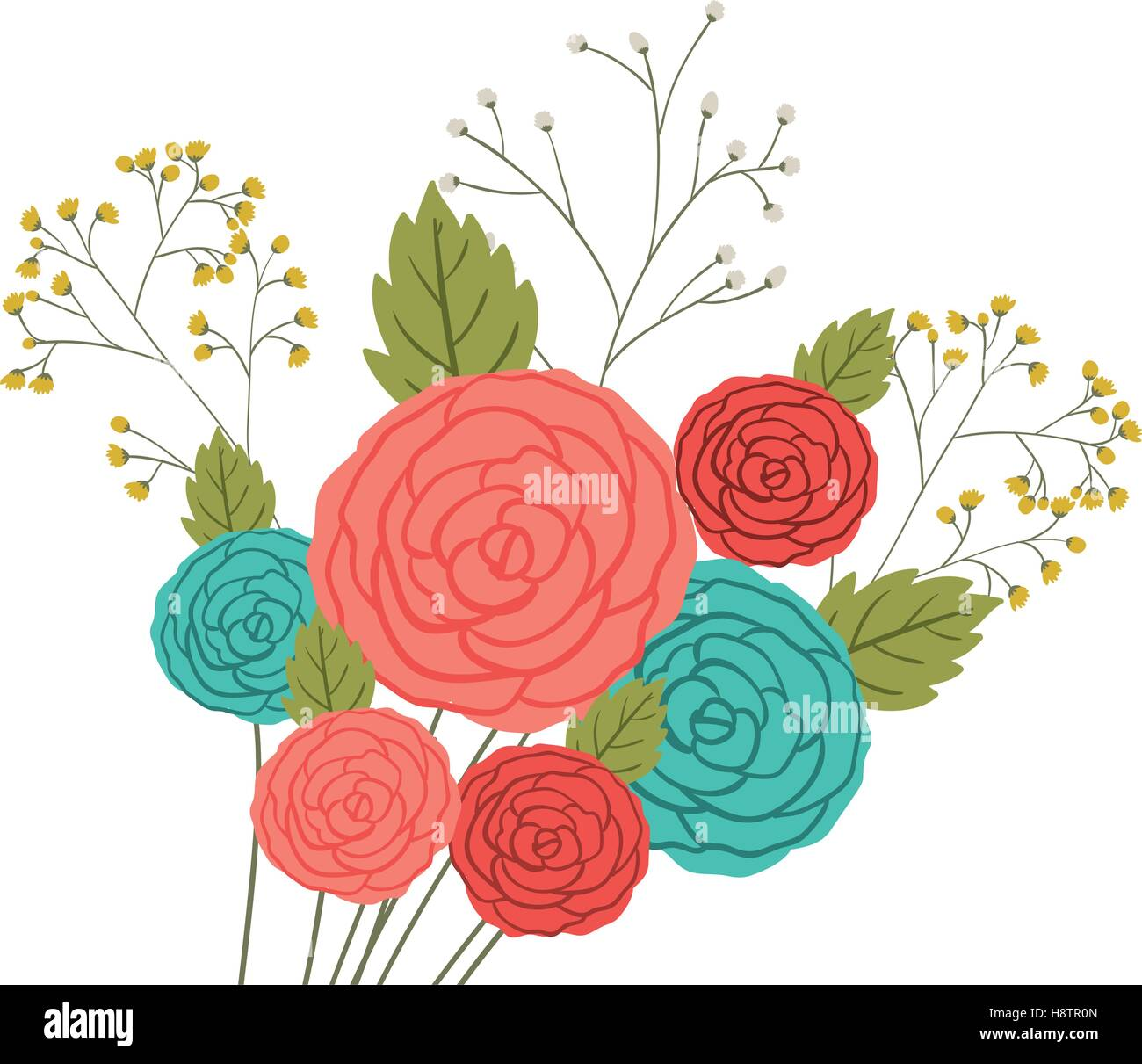 Roses Icon Decoration Rustic Garden Floral Nature Plant And Spring