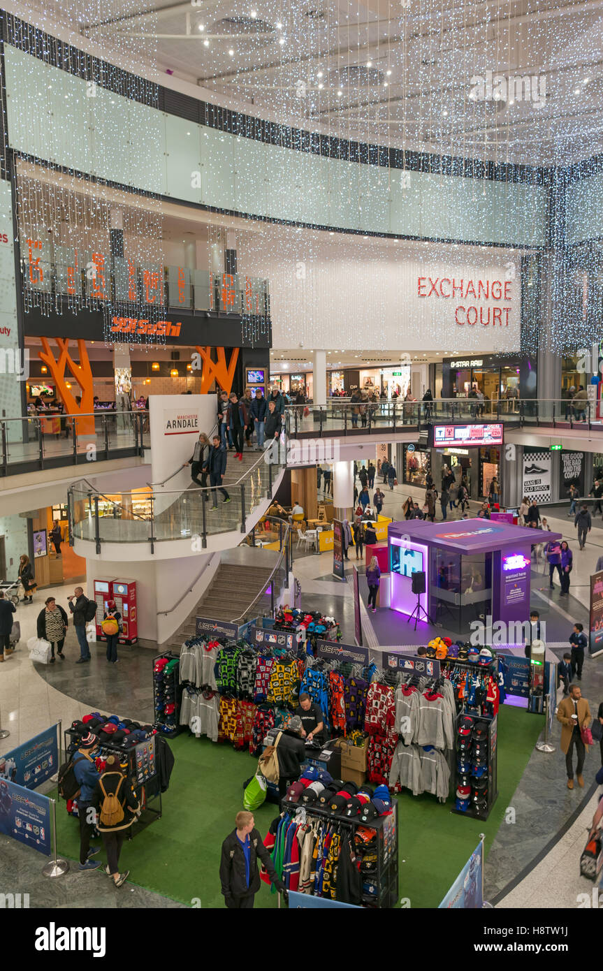 The Exchange Court within Manchester Arndale centre, England, UK - Stock Image