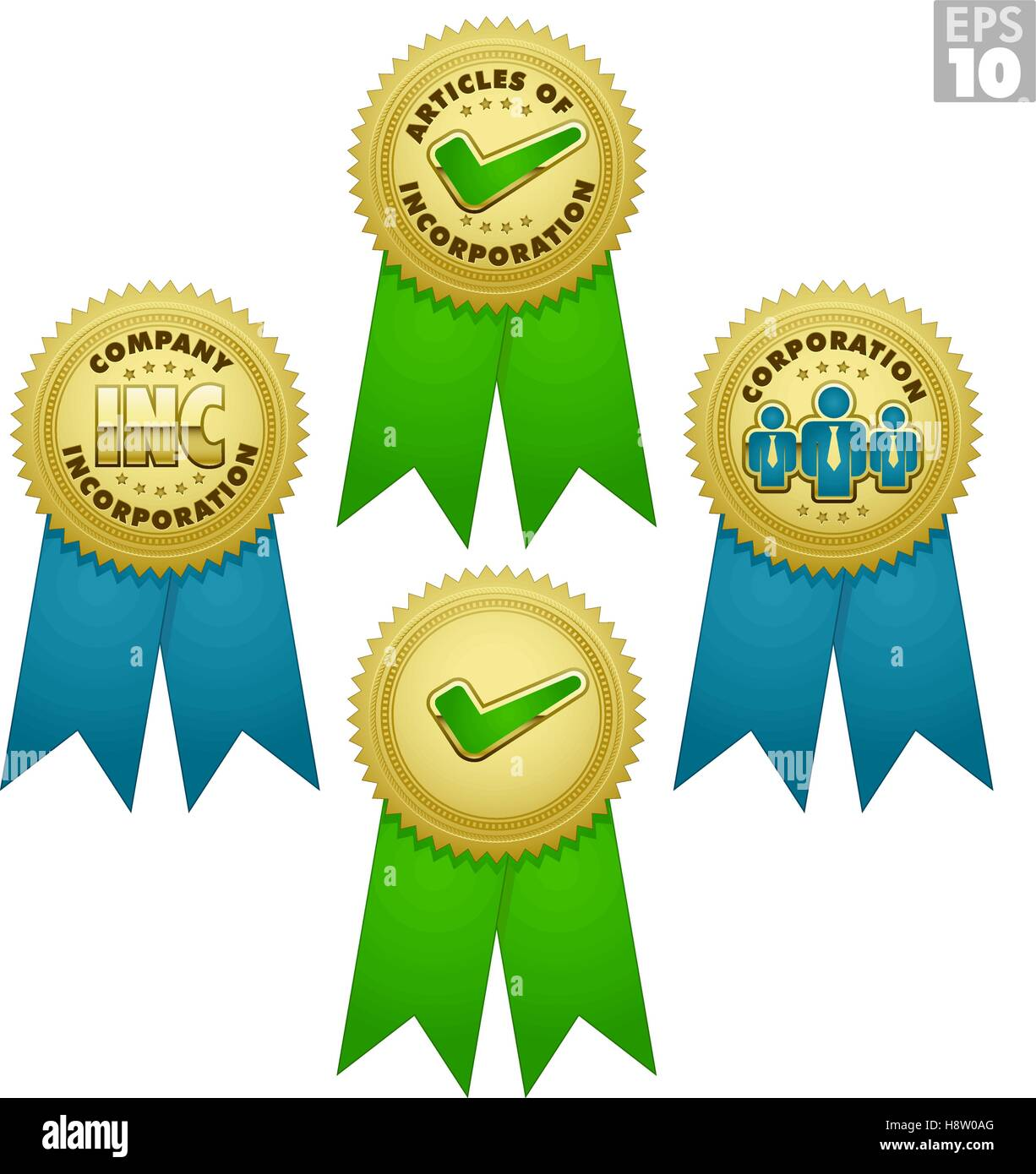 Gold medals, bursts for business incorporations, and approved award