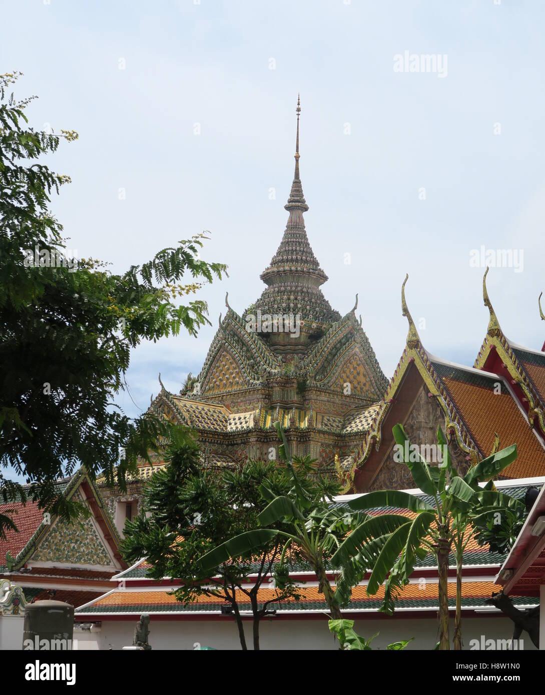 Wat pho temple, Bangkok, Thailand - Stock Image