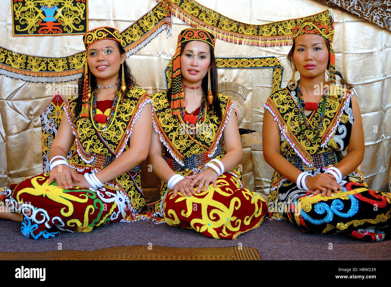 The Orang Ulu, Sarawak, Malaysia. - Stock Image