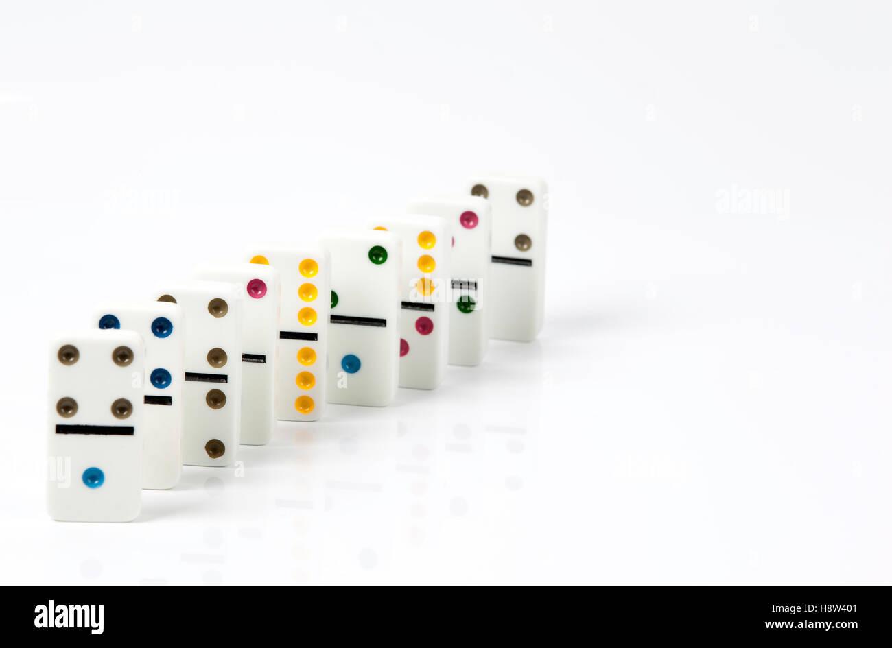 Domino isolated on white background - Stock Image
