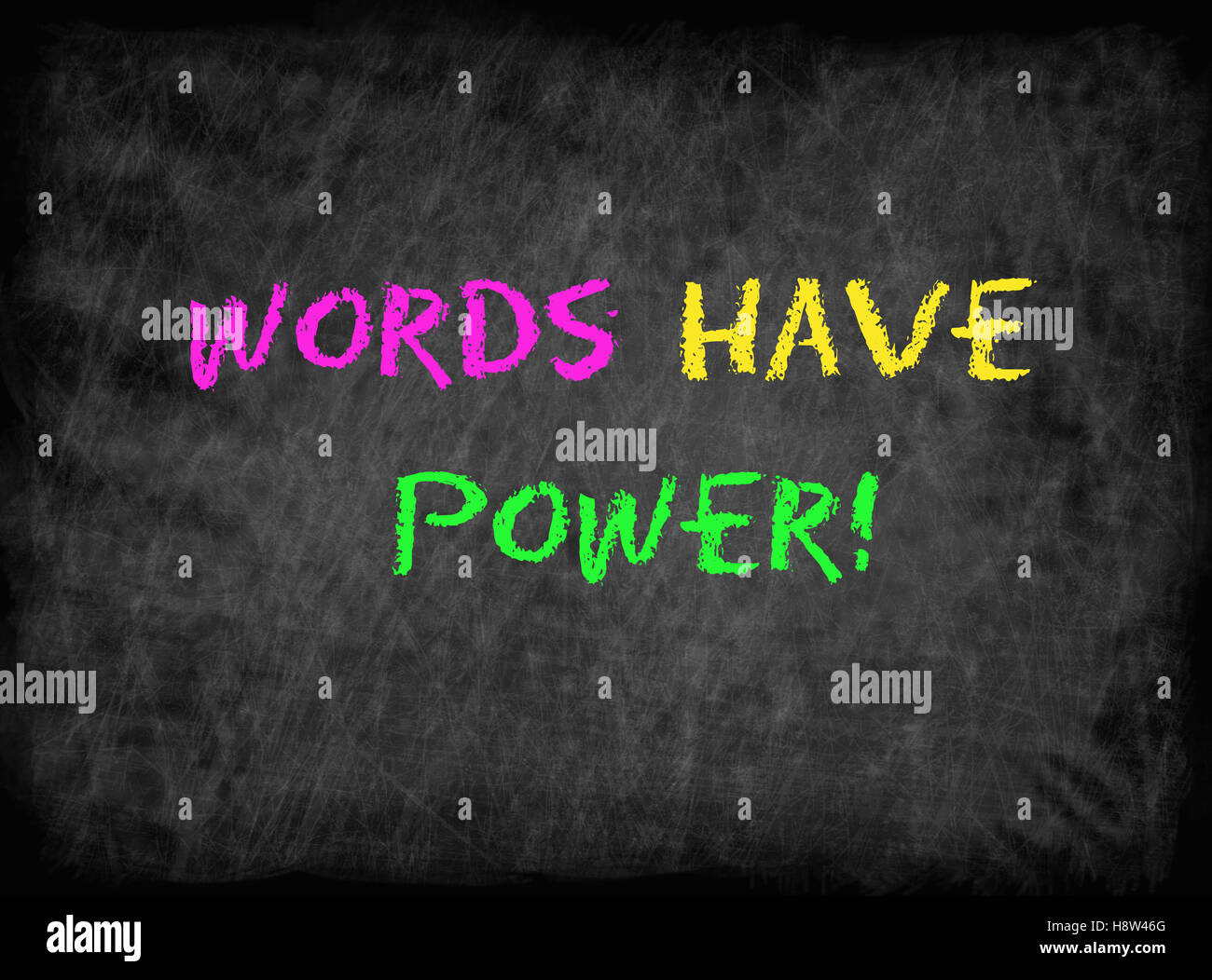Words Have Power concept - Stock Image