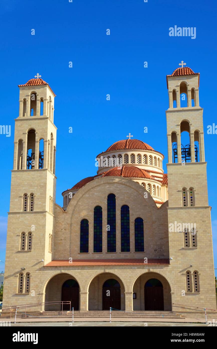 Agioi Anargyroi Greek Orthodox Church, Paphos, Cyprus, Eastern Mediterranean Sea - Stock Image