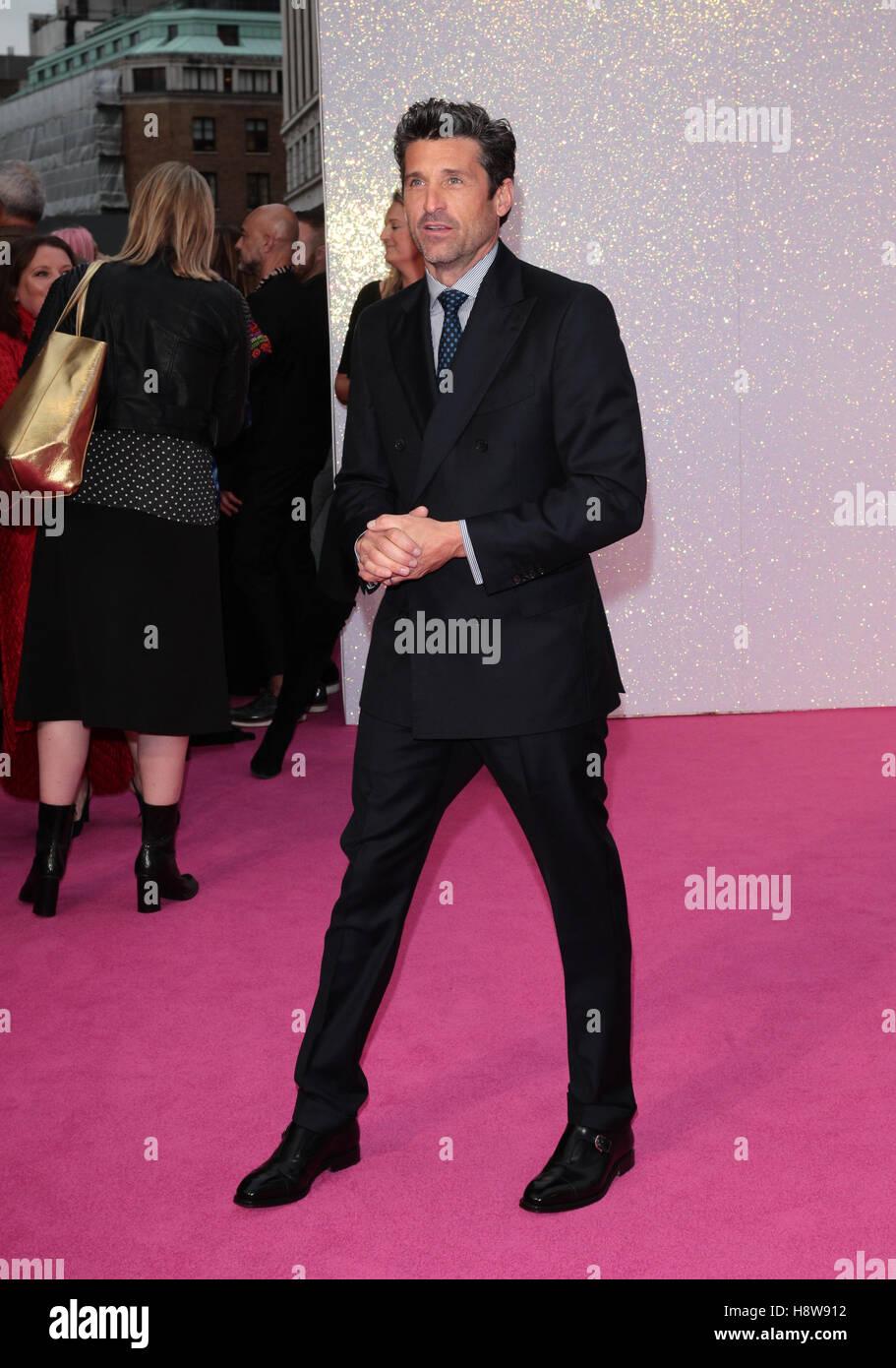 Patrick Dempsey attends Bridget Jone's Baby film premiere London on 05 Sep, 2016 - Stock Image