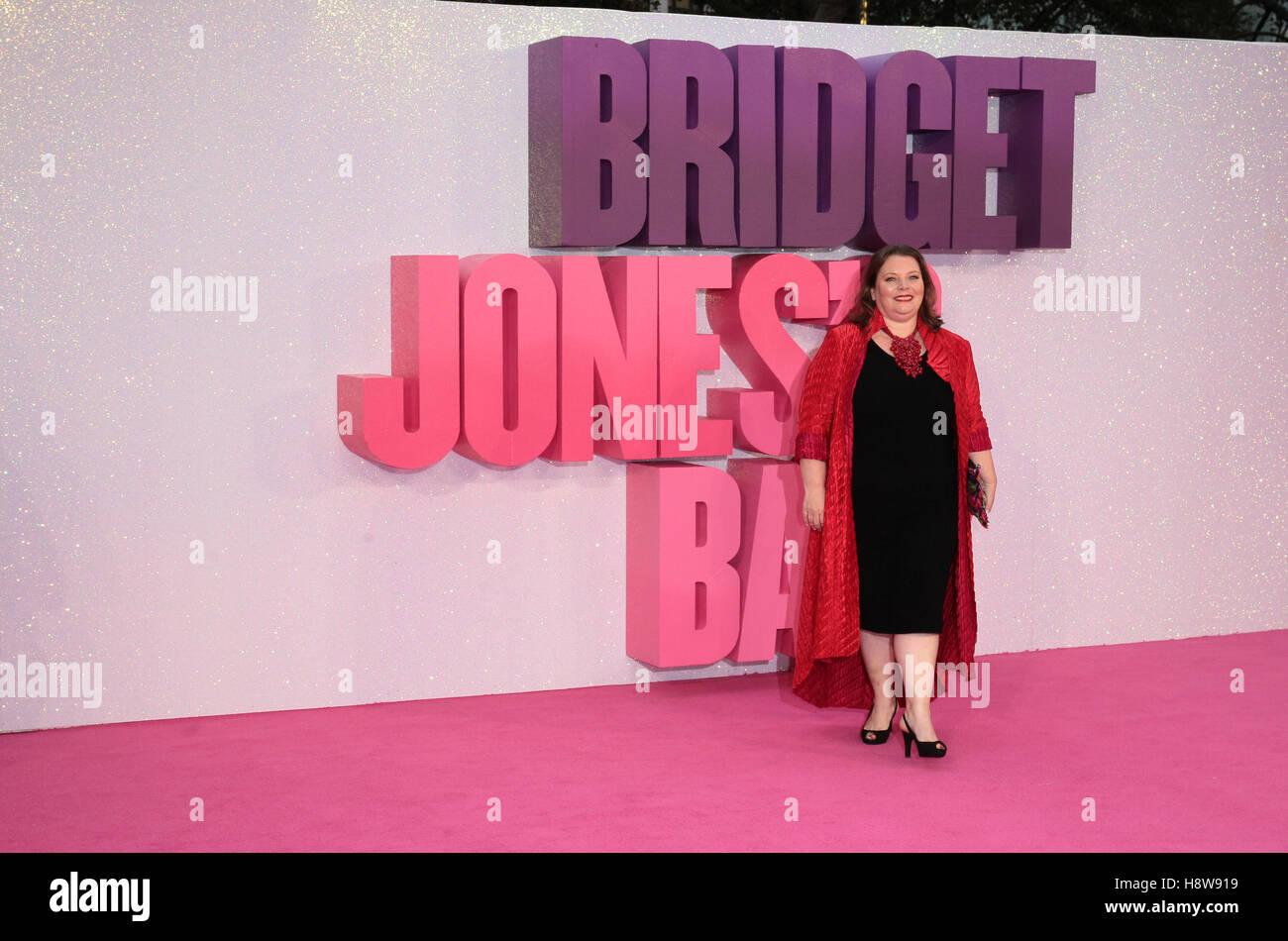 Joanna Scanlan attends Bridget Jone's Baby film premiere London on 05 Sep, 2016 - Stock Image