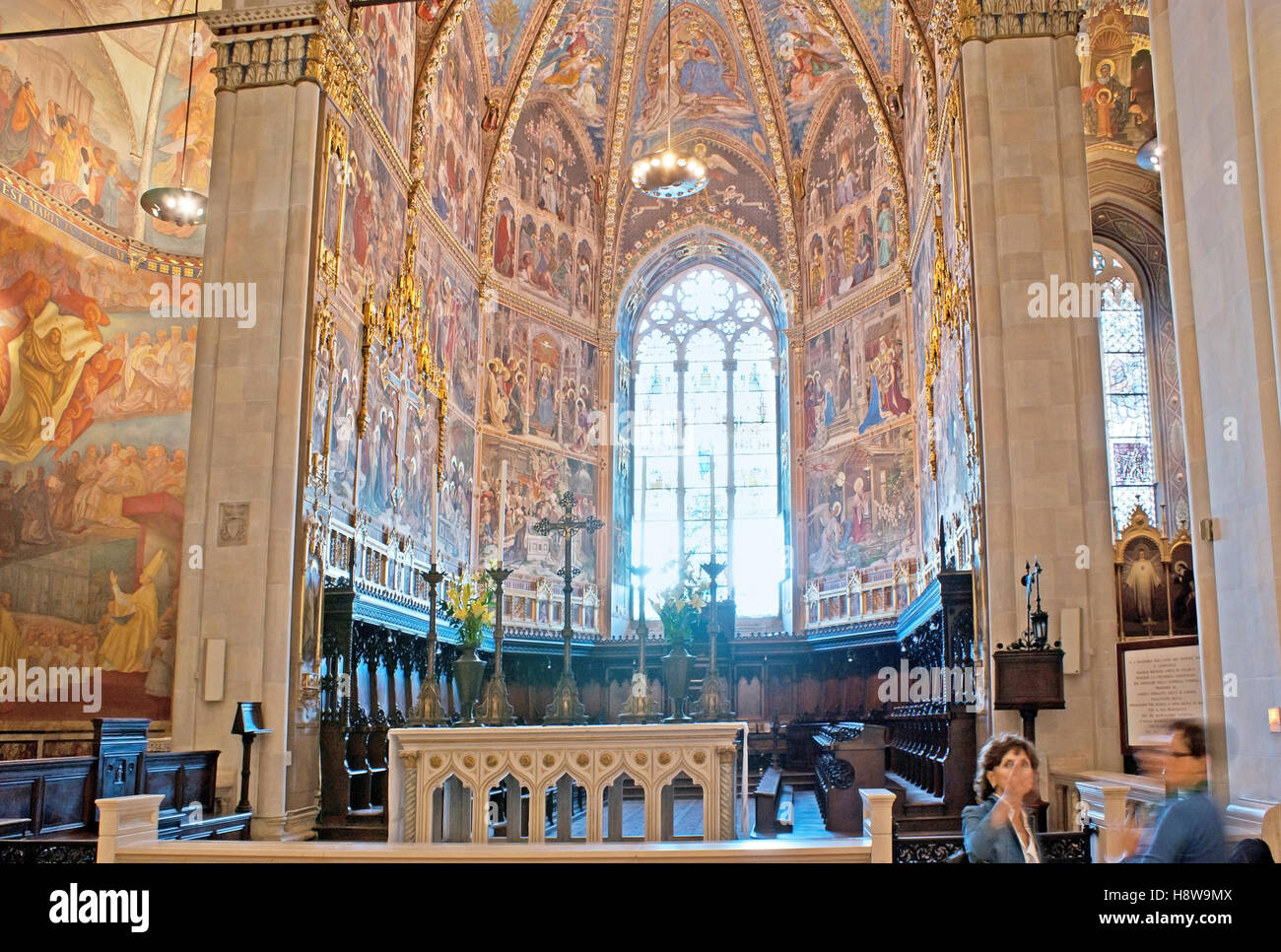One of the numerous Chapels in Basilica of Santa Casa, located around the Shrine of the Holy House of Virgin Mary - Stock Image