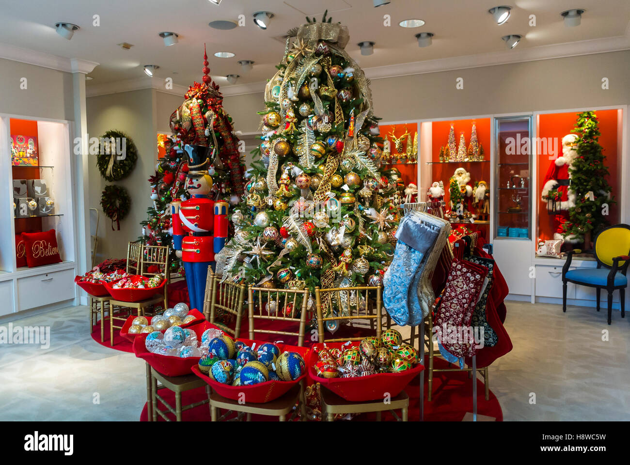 san francisco ca usa holiday decorations on display inside luxury american department - Neiman Marcus Christmas Decor