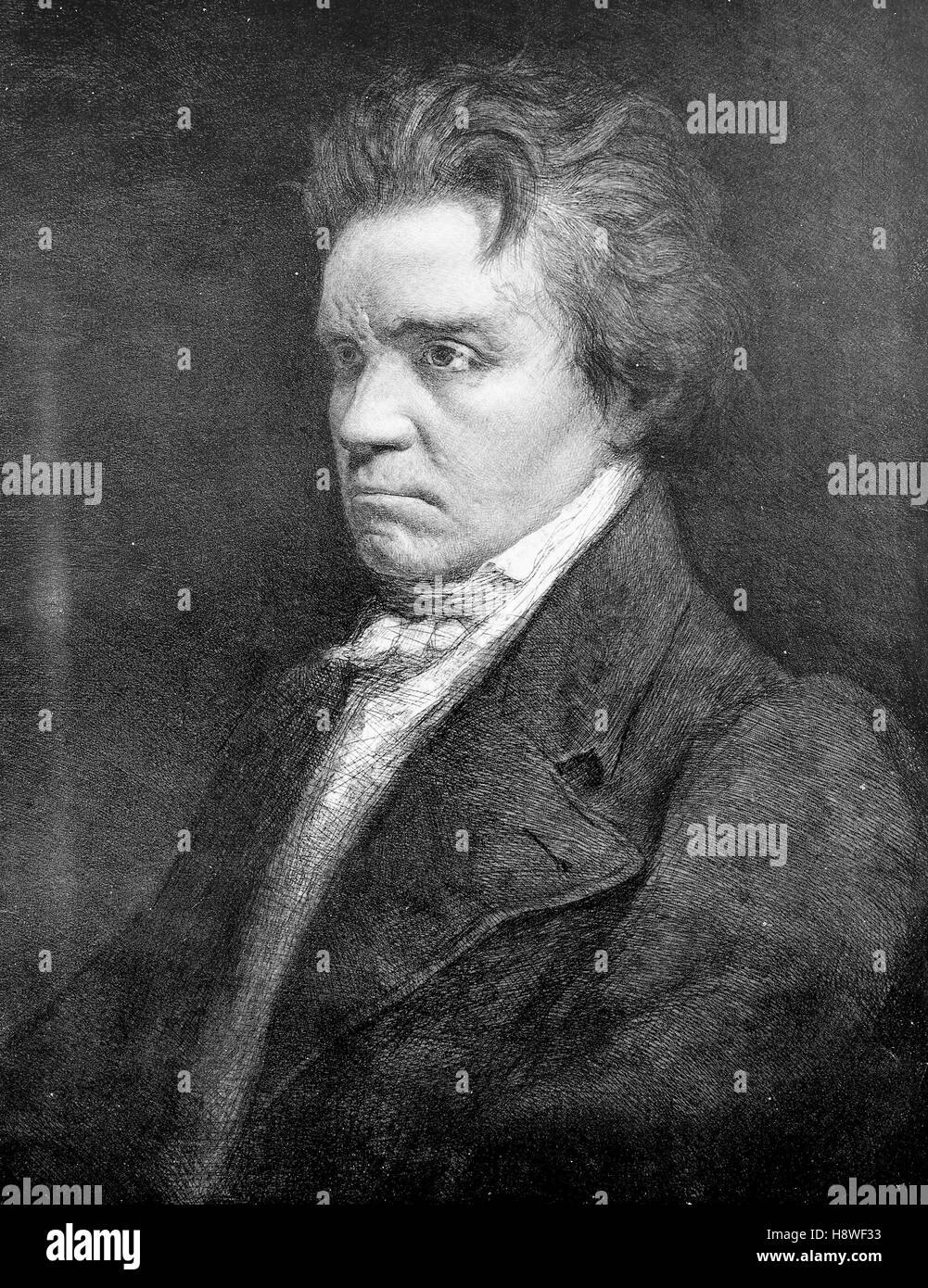 Ludwig van Beethoven was a German composer and pianist - Stock Image