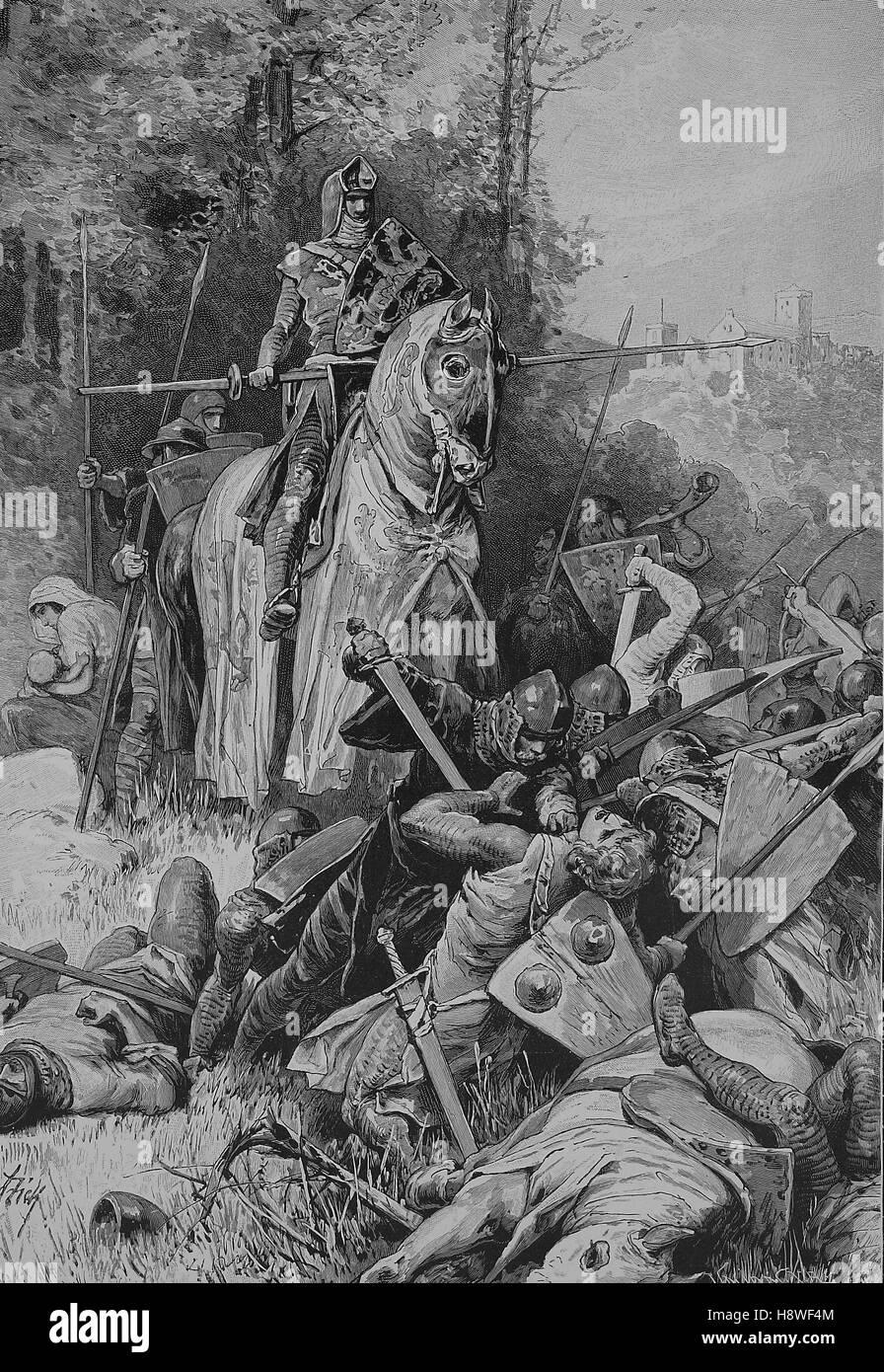'Frederick I, called the Brave or the Bitten, Friedrich der Freidige or Friedrich der Gebissene; 1257 - 1323 - Stock Image