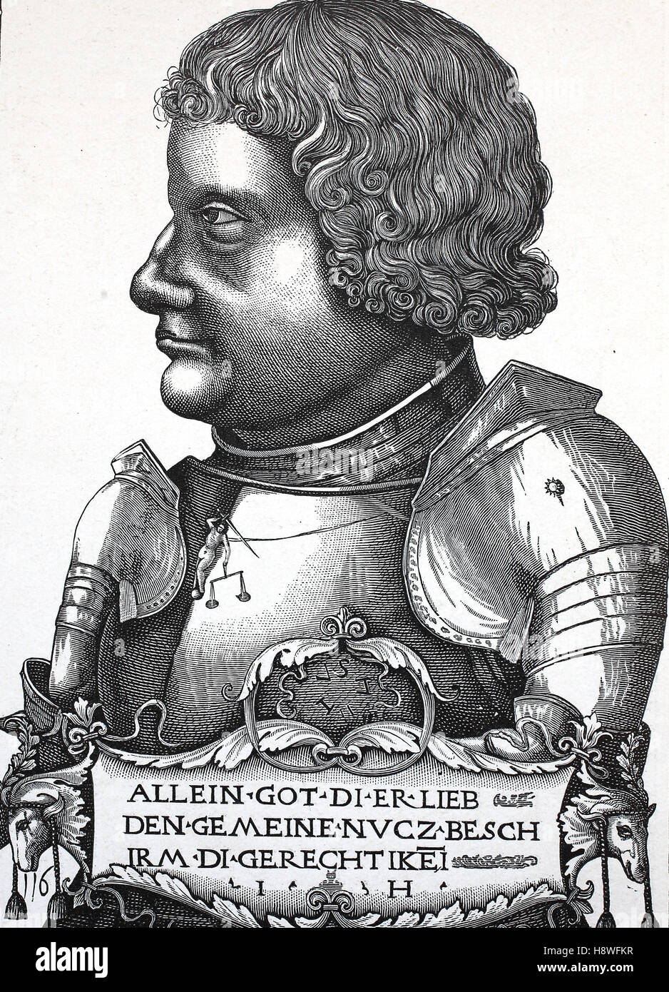 Franz von Sickingen or Francis of Sickingen was a German knight, one of the most notable figures of the first period - Stock Image