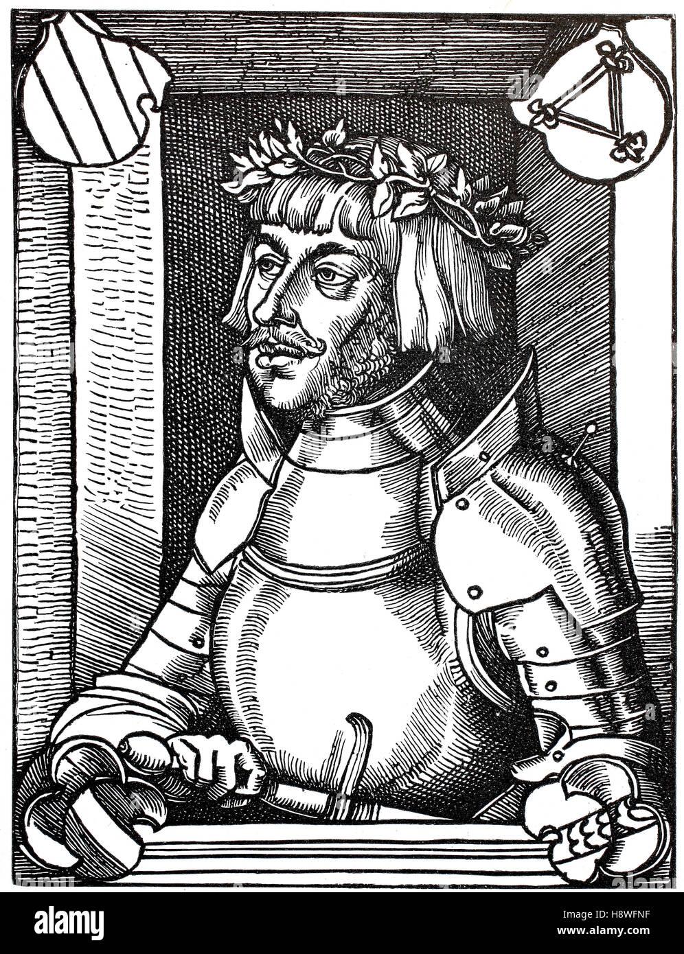 Ulrich von Hutten was a German scholar, poet, satirist and reformer - Stock Image