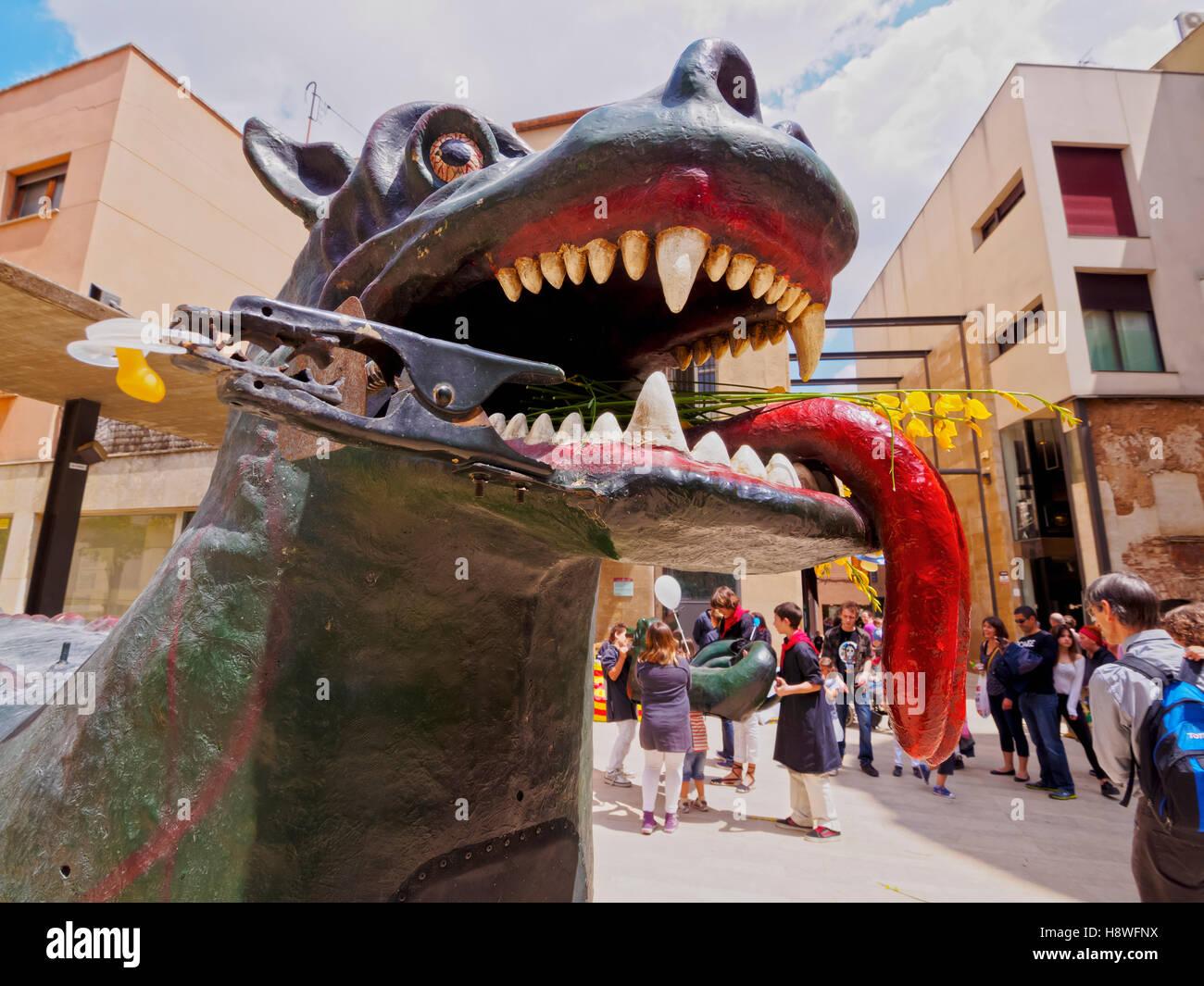 Spain, Catalonia, Barcelona Province, Terrassa, View of the Dragon. - Stock Image