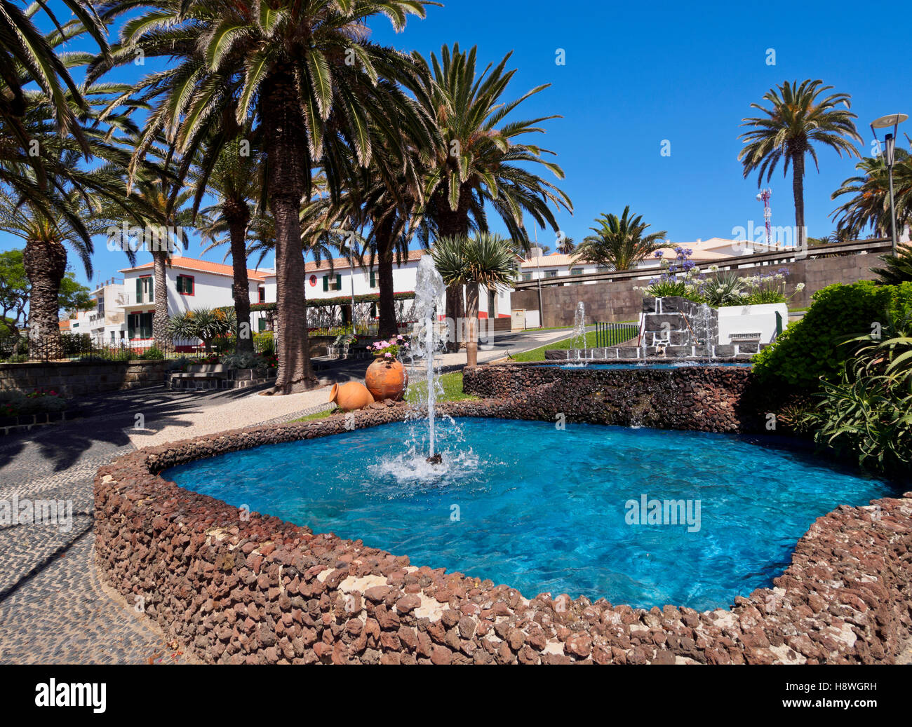 Portugal, Madeira Islands, Porto Santo, View of the Vila Baleira. - Stock Image